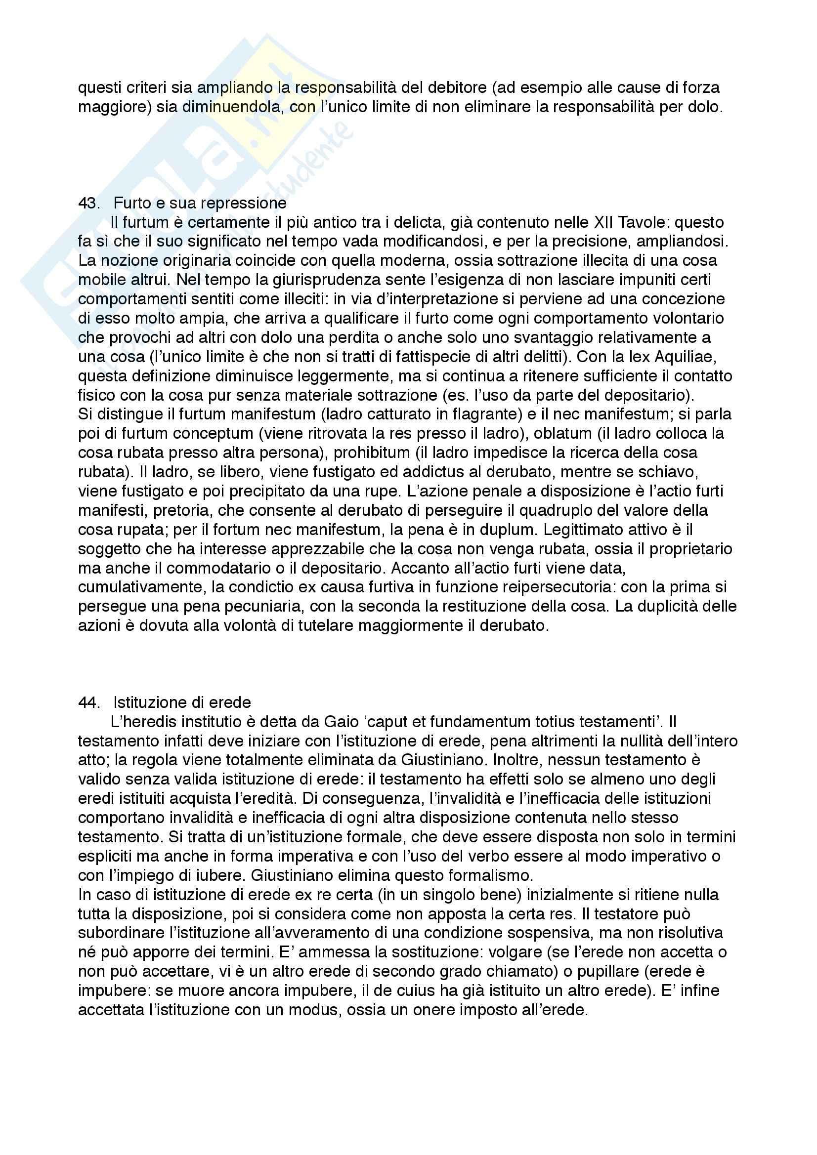 Diritto privato romano - 100 Domande e Risposte - Programma completo - Università di Torino Pag. 21