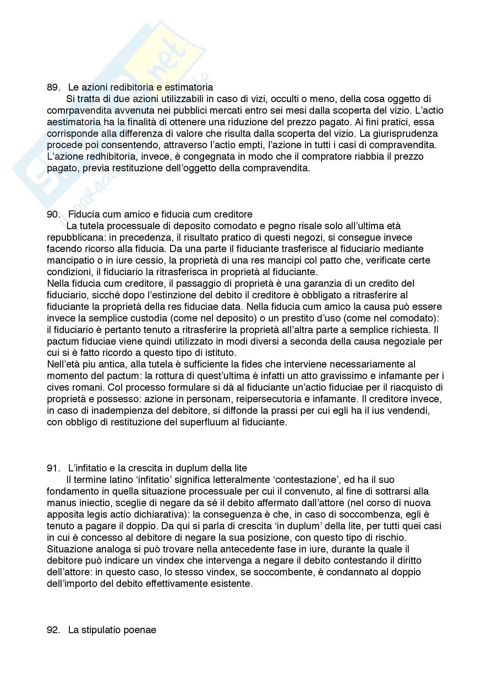 Diritto privato romano - 100 Domande e Risposte - Programma completo - Università di Torino Pag. 41