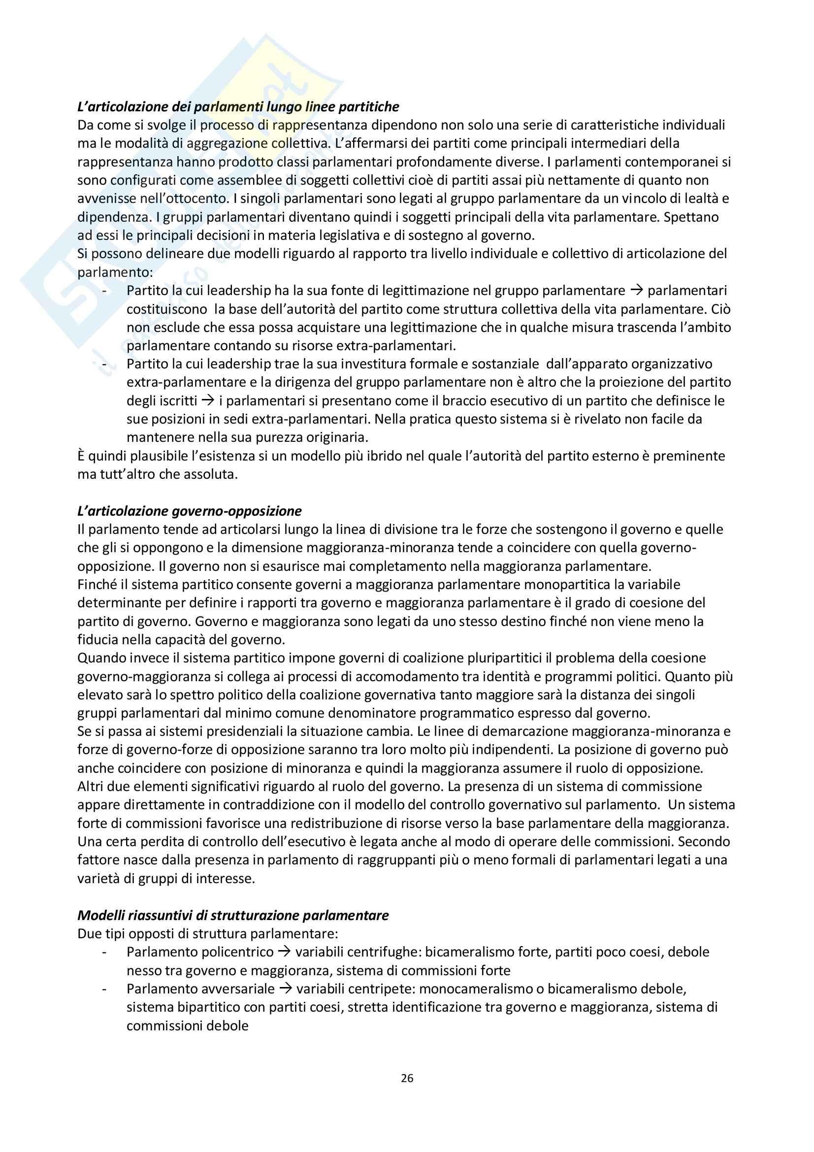 Riassunto esame scienza politica, prof. Nevola, libro consigliato La scienza politica, Cotta, Della Porta, Morlino Pag. 26