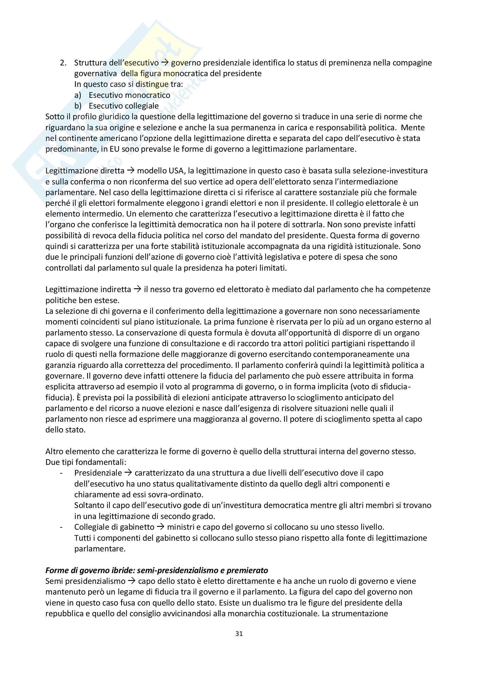 Riassunto esame scienza politica, prof. Nevola, libro consigliato La scienza politica, Cotta, Della Porta, Morlino Pag. 31