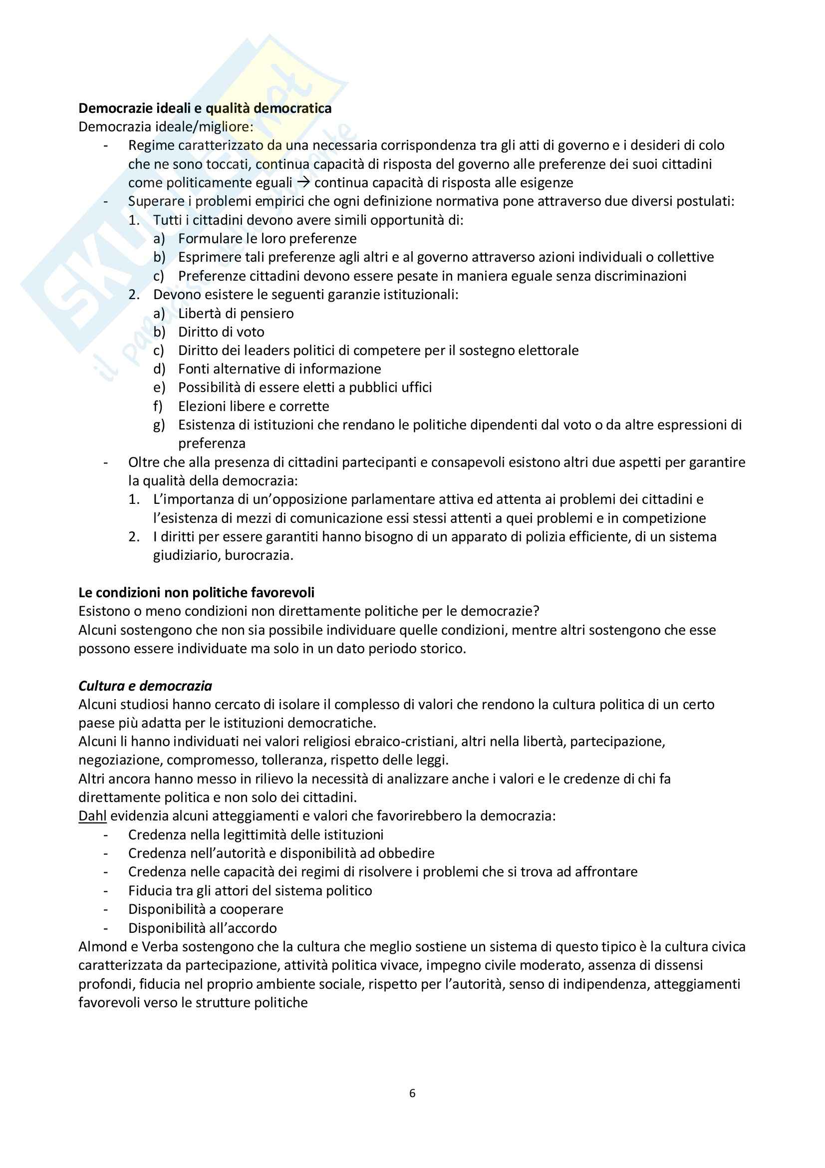 Riassunto esame scienza politica, prof. Nevola, libro consigliato La scienza politica, Cotta, Della Porta, Morlino Pag. 6