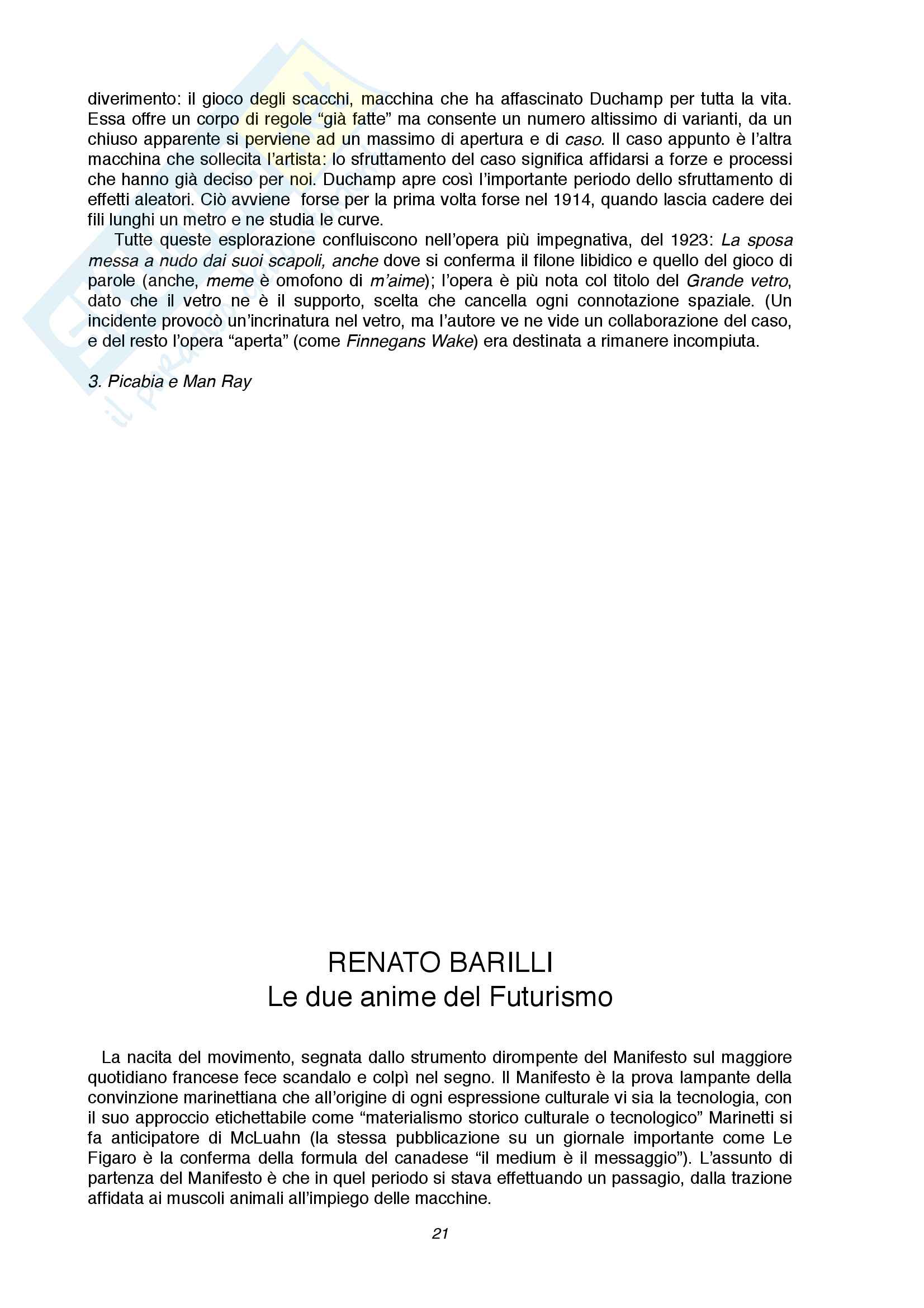 Riassunto esame Storia dell'arte contemporanea, prof. di Scienze letterarie, libro consigliato Renato Barilli, l'arte contemporanea da Cézanne alle ultime tendenze Pag. 21