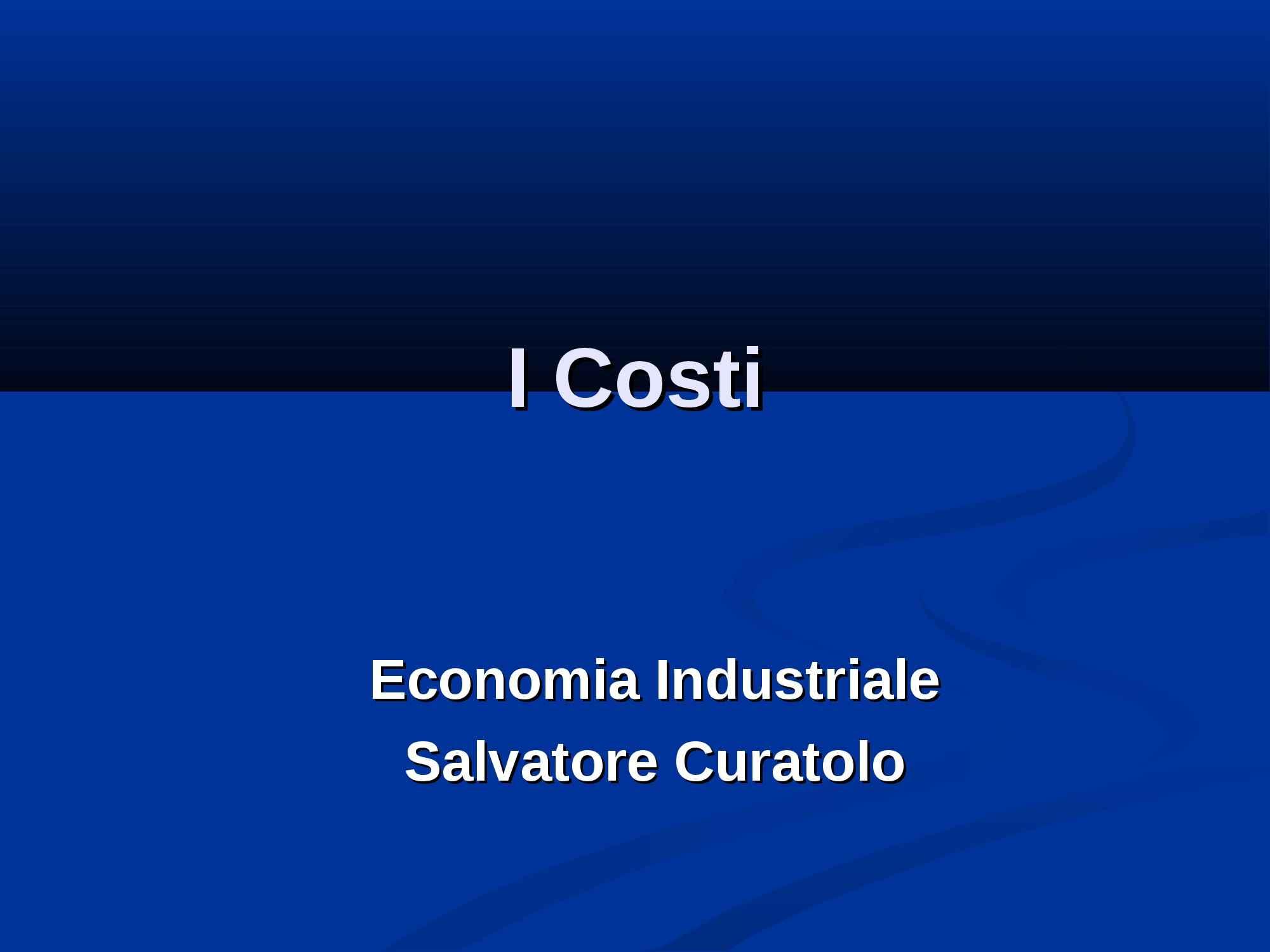 Costi - I parte