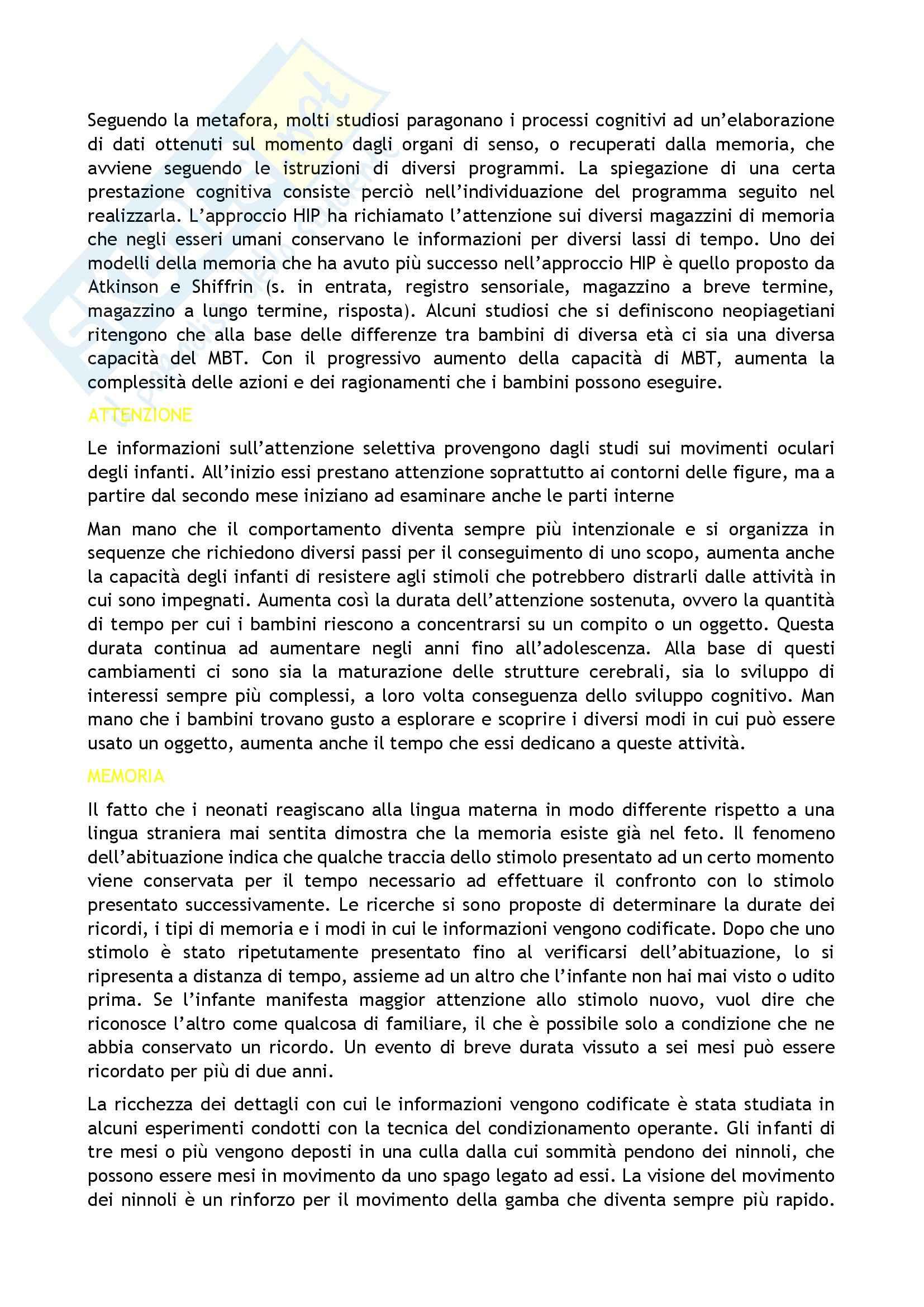 Riassunto esame Psicologia, prof. Caprin, libro consigliato Corso di psicologia dello sviluppo, Berti-Bombi Pag. 11