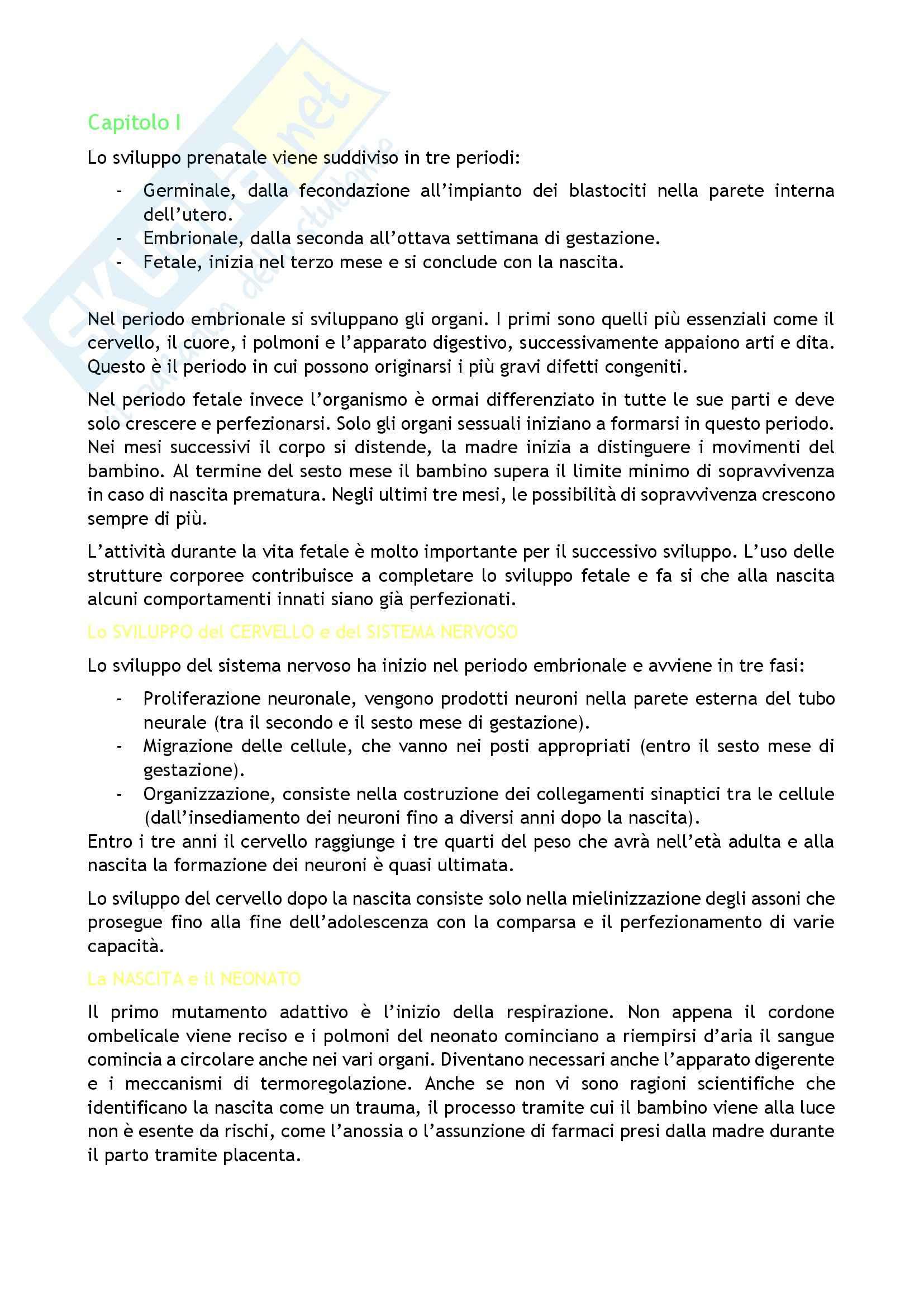 Riassunto esame Psicologia, prof. Caprin, libro consigliato Corso di psicologia dello sviluppo, Berti-Bombi Pag. 2