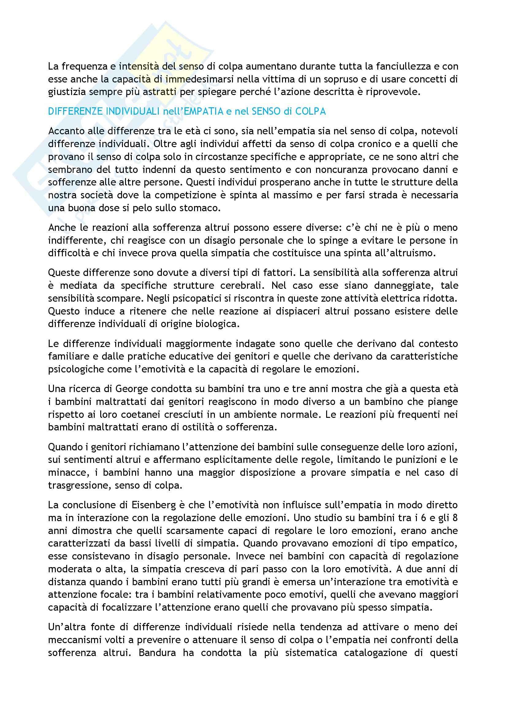 Riassunto esame Psicologia, prof. Caprin, libro consigliato Corso di psicologia dello sviluppo, Berti-Bombi Pag. 36