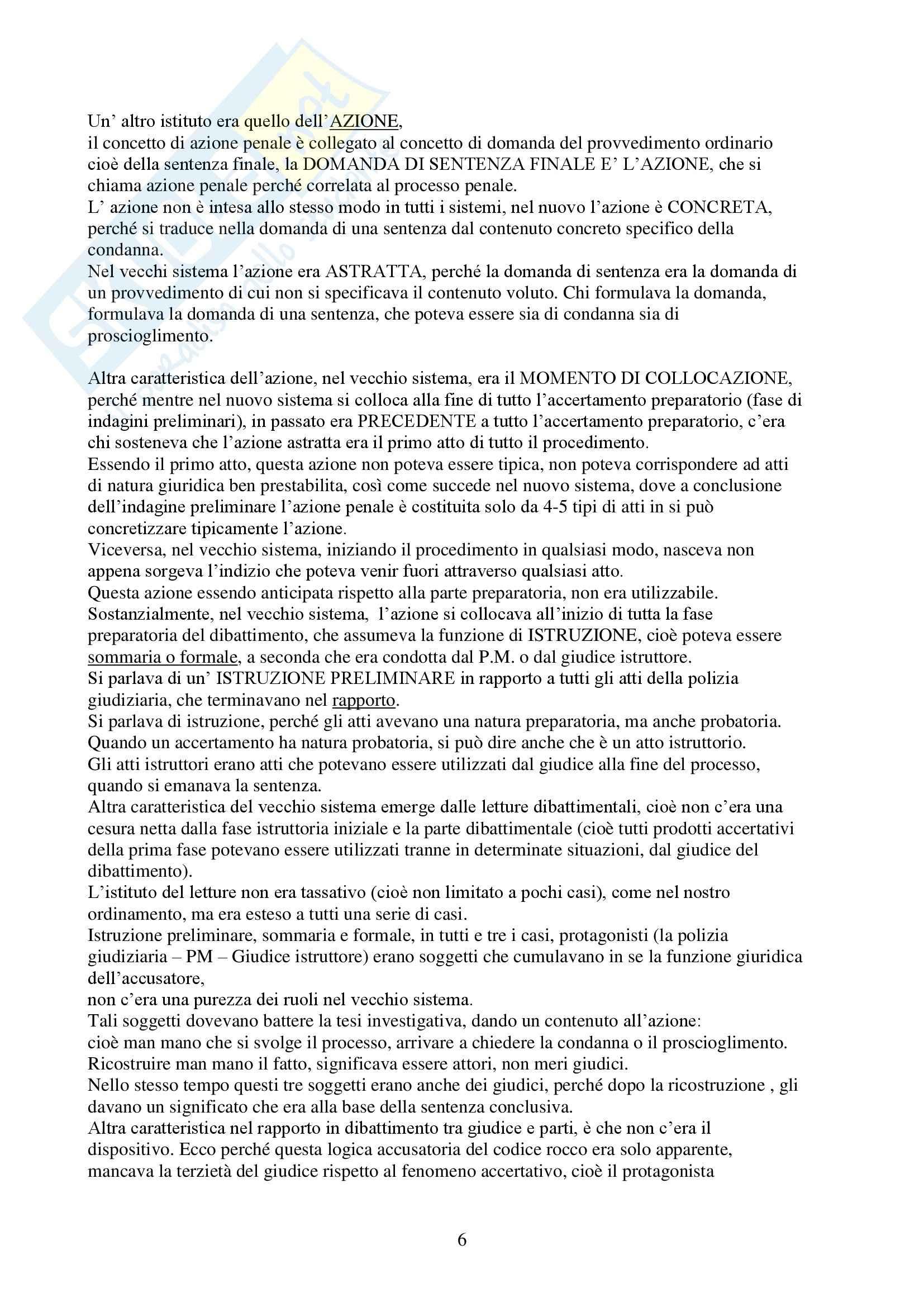 Procedura penale - Riassunto esame, prof. Menna Pag. 6