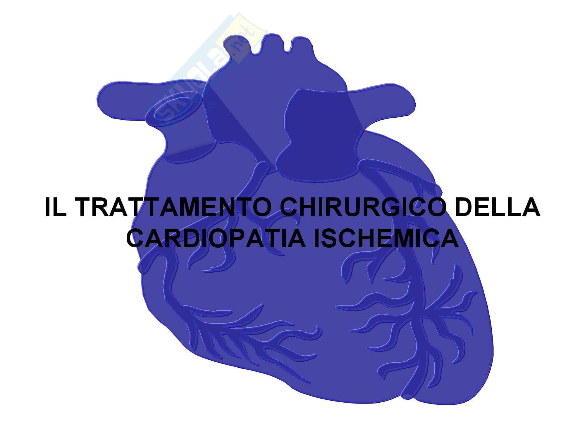 Cardiochirurgia - terapia chirurgica della cardiopatia ischemica