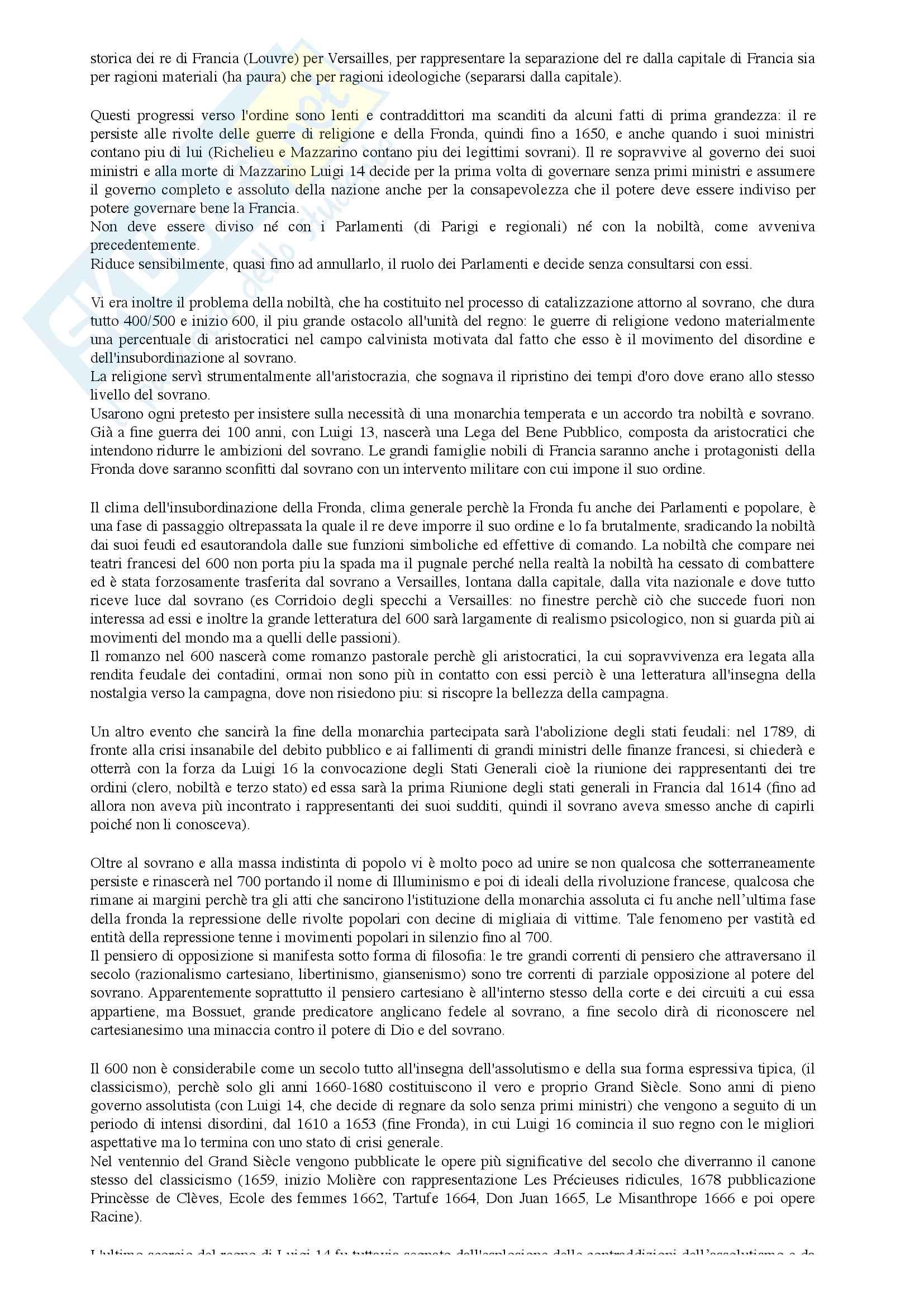 Riassunto per l'esame di Letteratura Francese prof. Cordiner Pag. 6