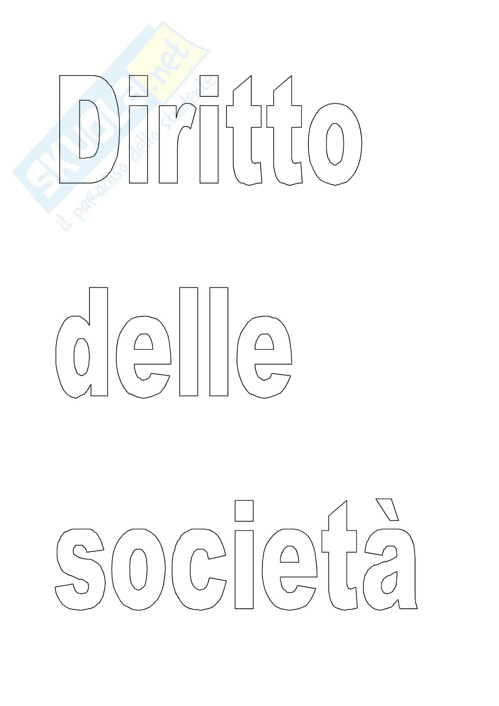 Diritto commerciale - il diritto delle società