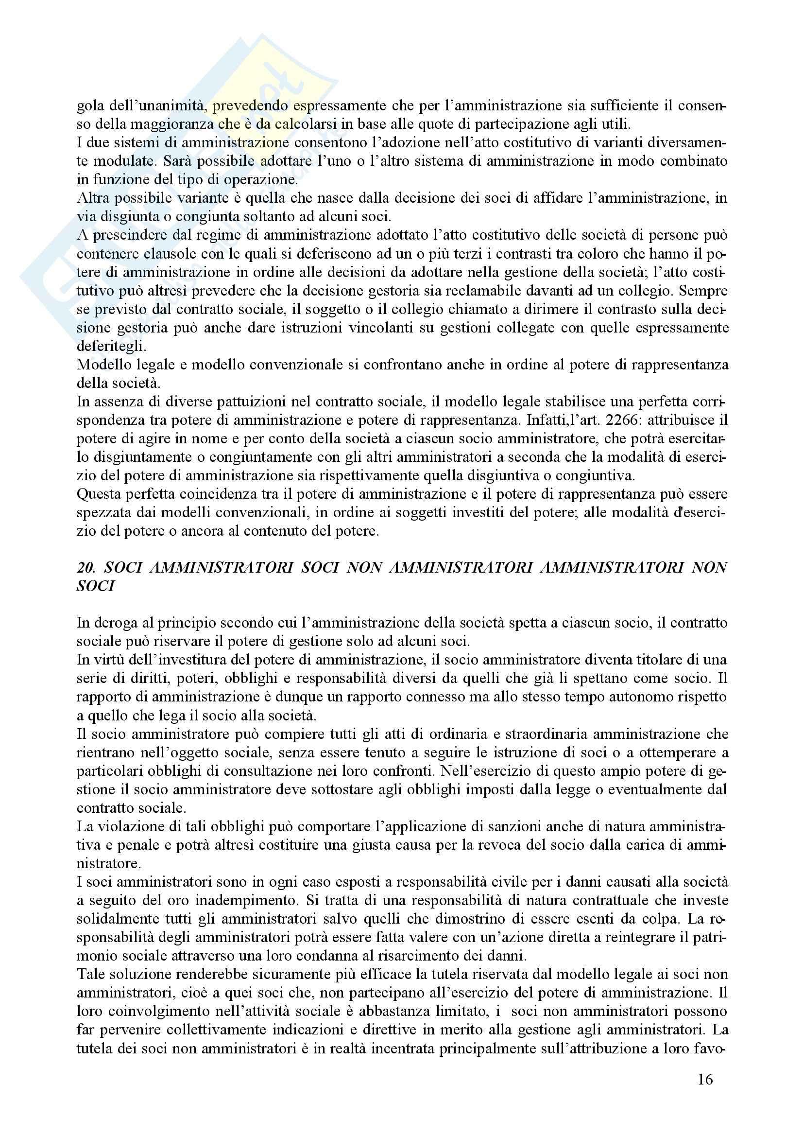 Diritto commerciale - il diritto delle società Pag. 16