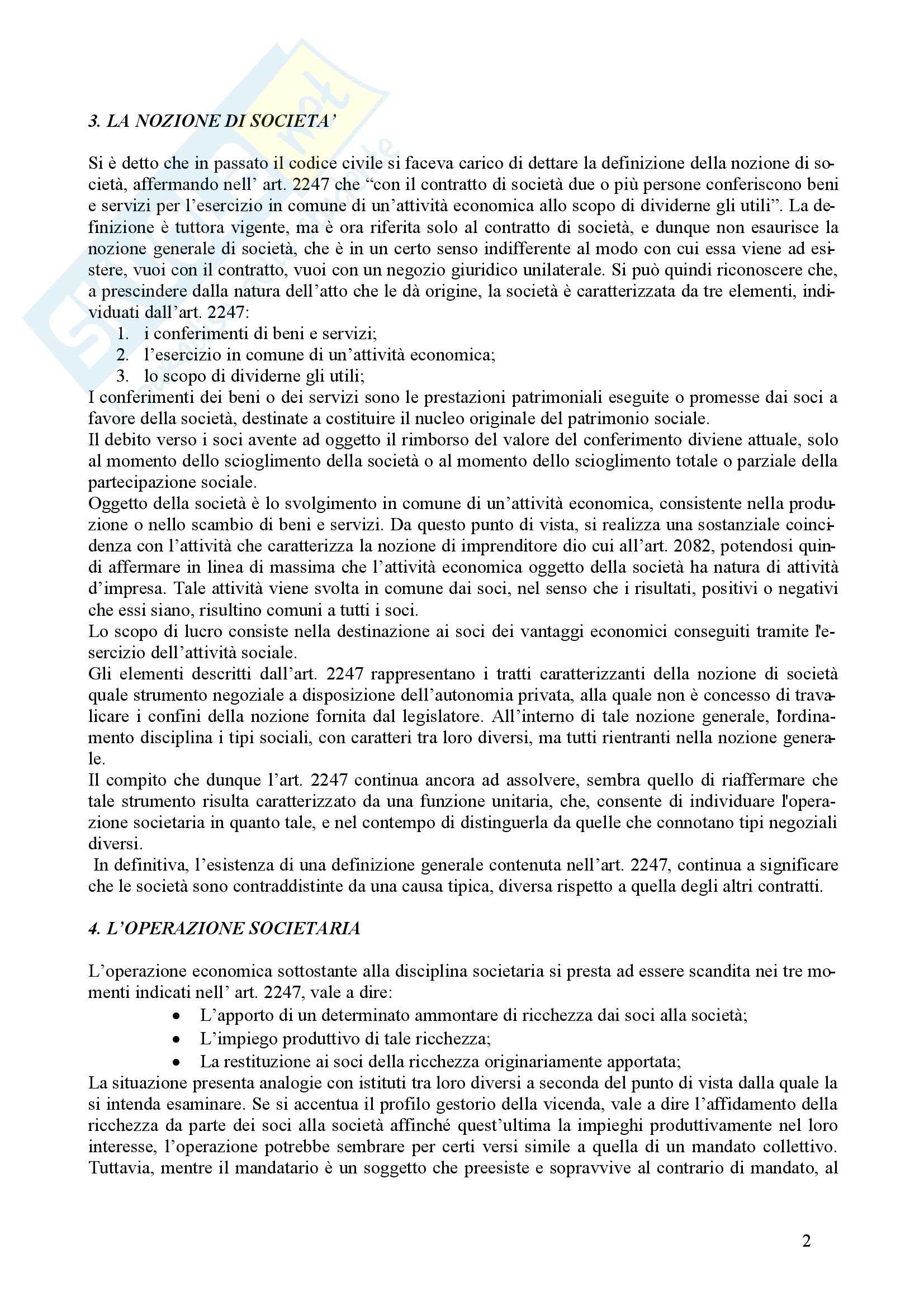Diritto commerciale - il diritto delle società Pag. 2