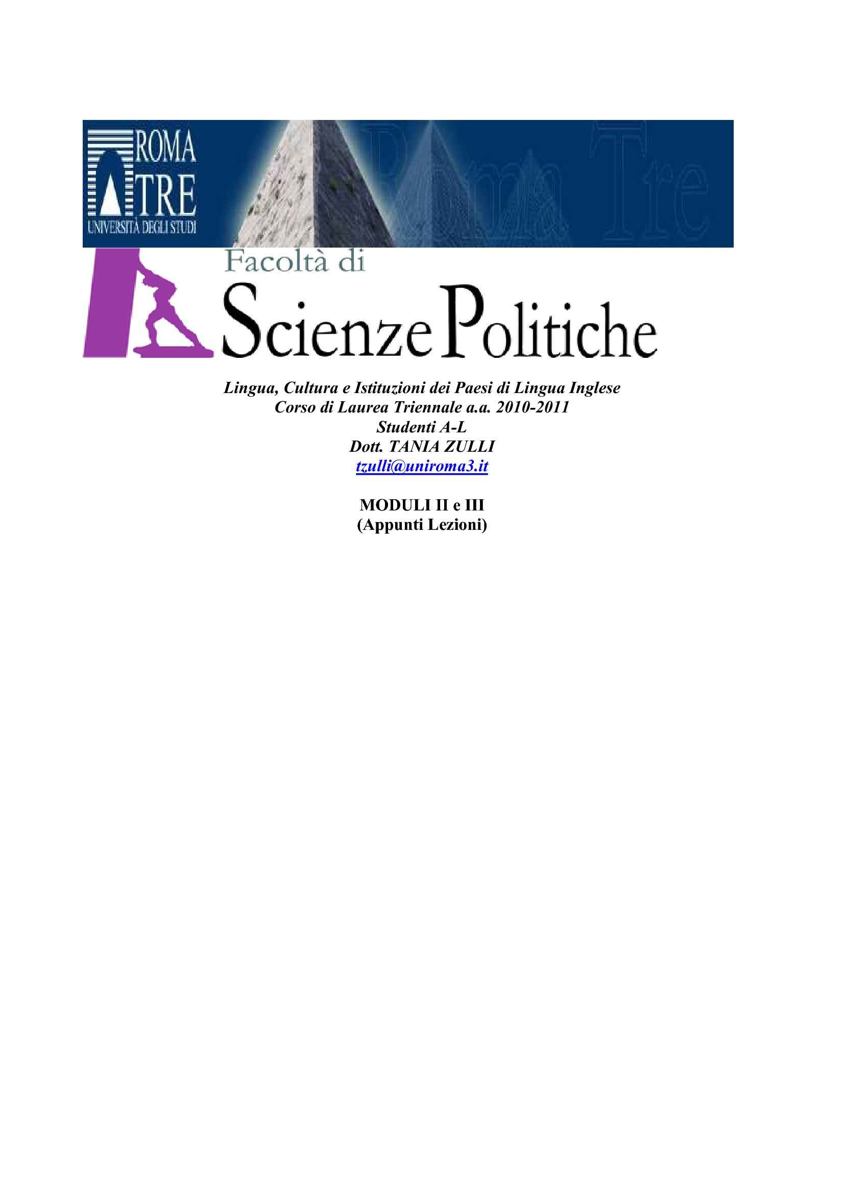 Letteratura inglese e colonialismo dispense for Test scienze politiche