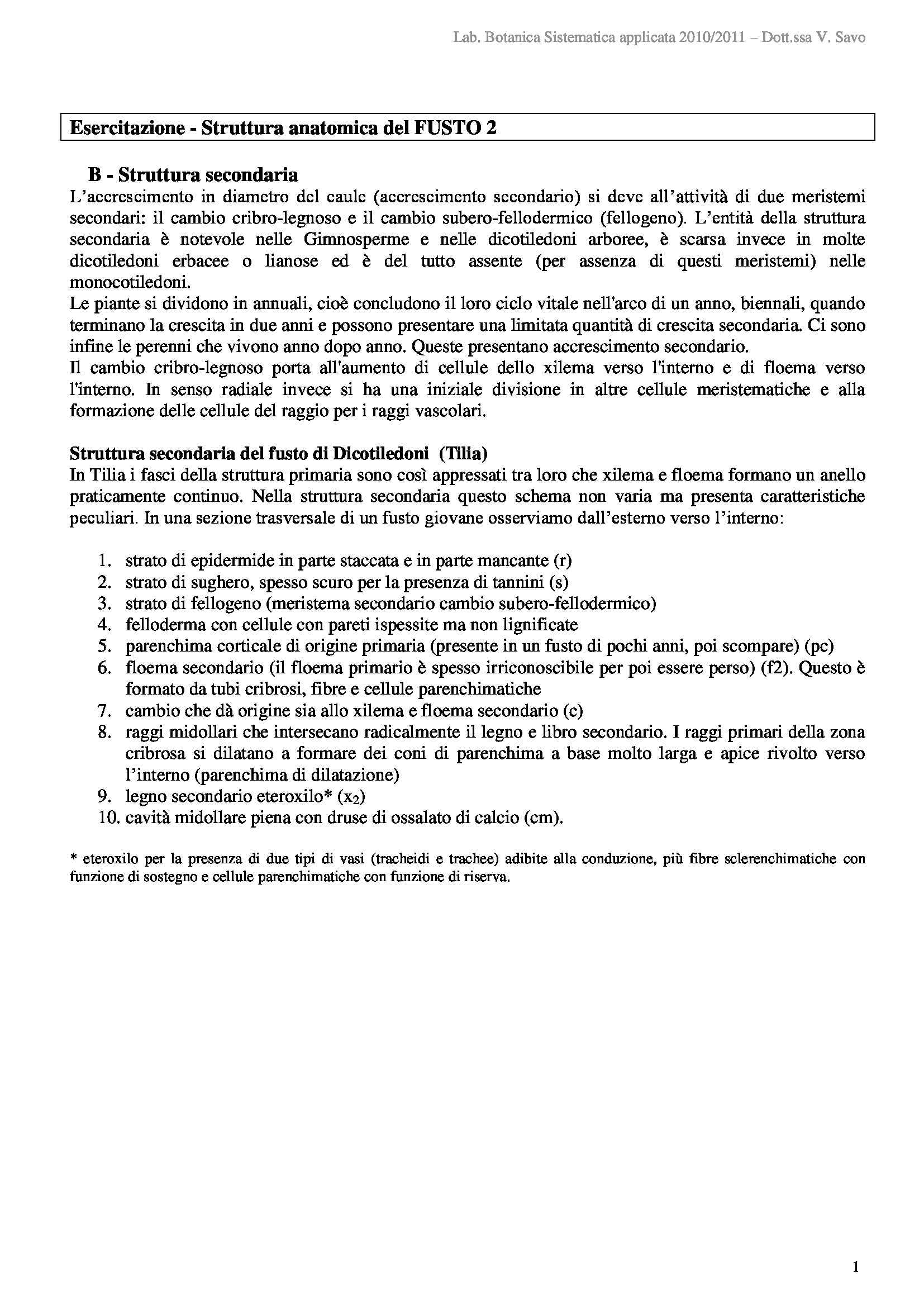 dispensa G. Caneva BOTANICA