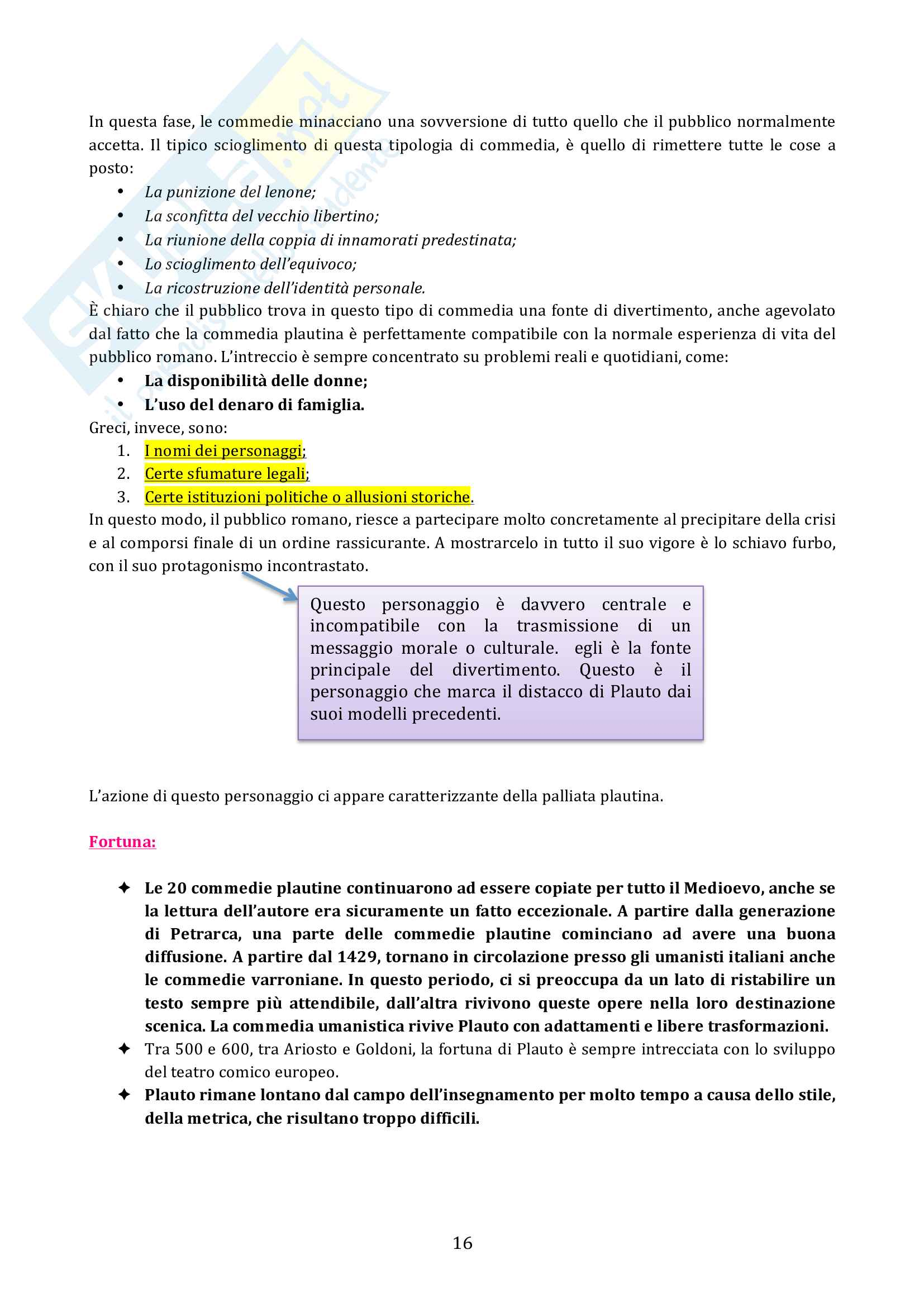 Riassunto esame diLetteratura latina, prof. Cristante, libro consigliato Storia e testi della letteratura latina, Conte, Pianezzola Pag. 16