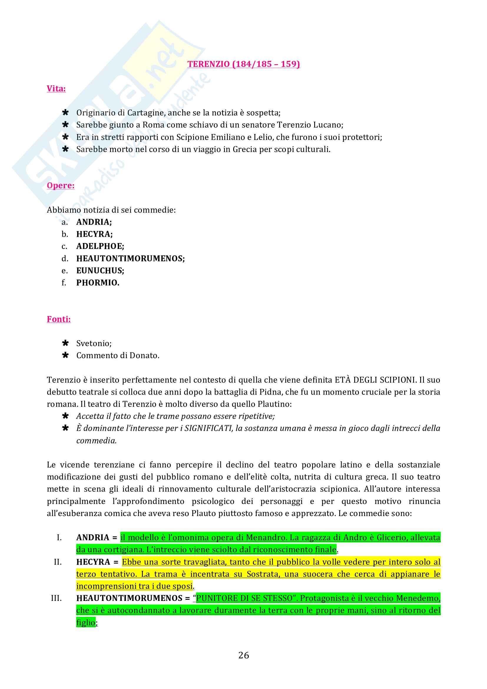 Riassunto esame diLetteratura latina, prof. Cristante, libro consigliato Storia e testi della letteratura latina, Conte, Pianezzola Pag. 26