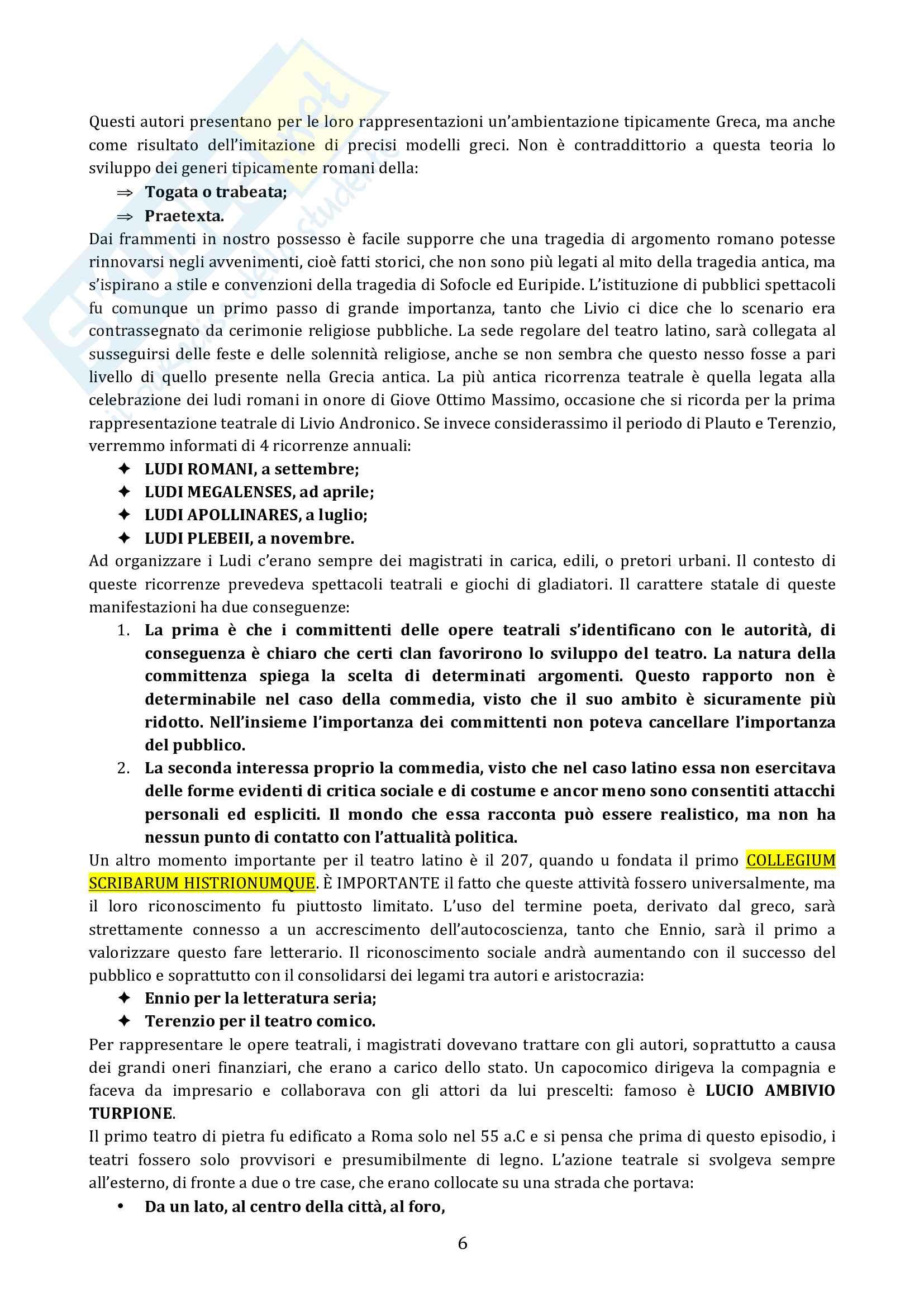 Riassunto esame diLetteratura latina, prof. Cristante, libro consigliato Storia e testi della letteratura latina, Conte, Pianezzola Pag. 6