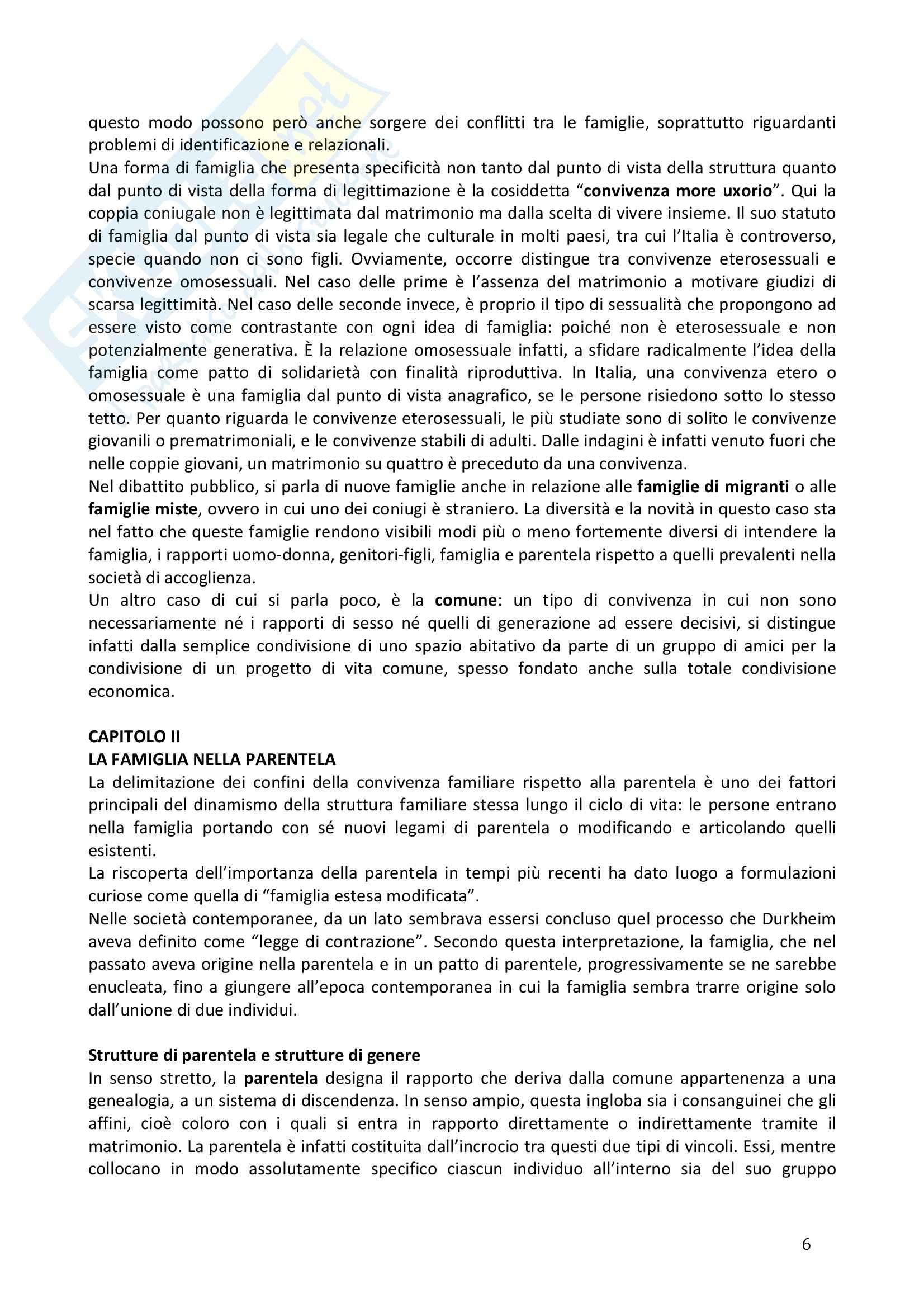 Riassunto esame Sociologia della famiglia, prof. Naldini, libro consigliato Manuale di sociologia della famiglia, Saraceno, Naldini Pag. 6