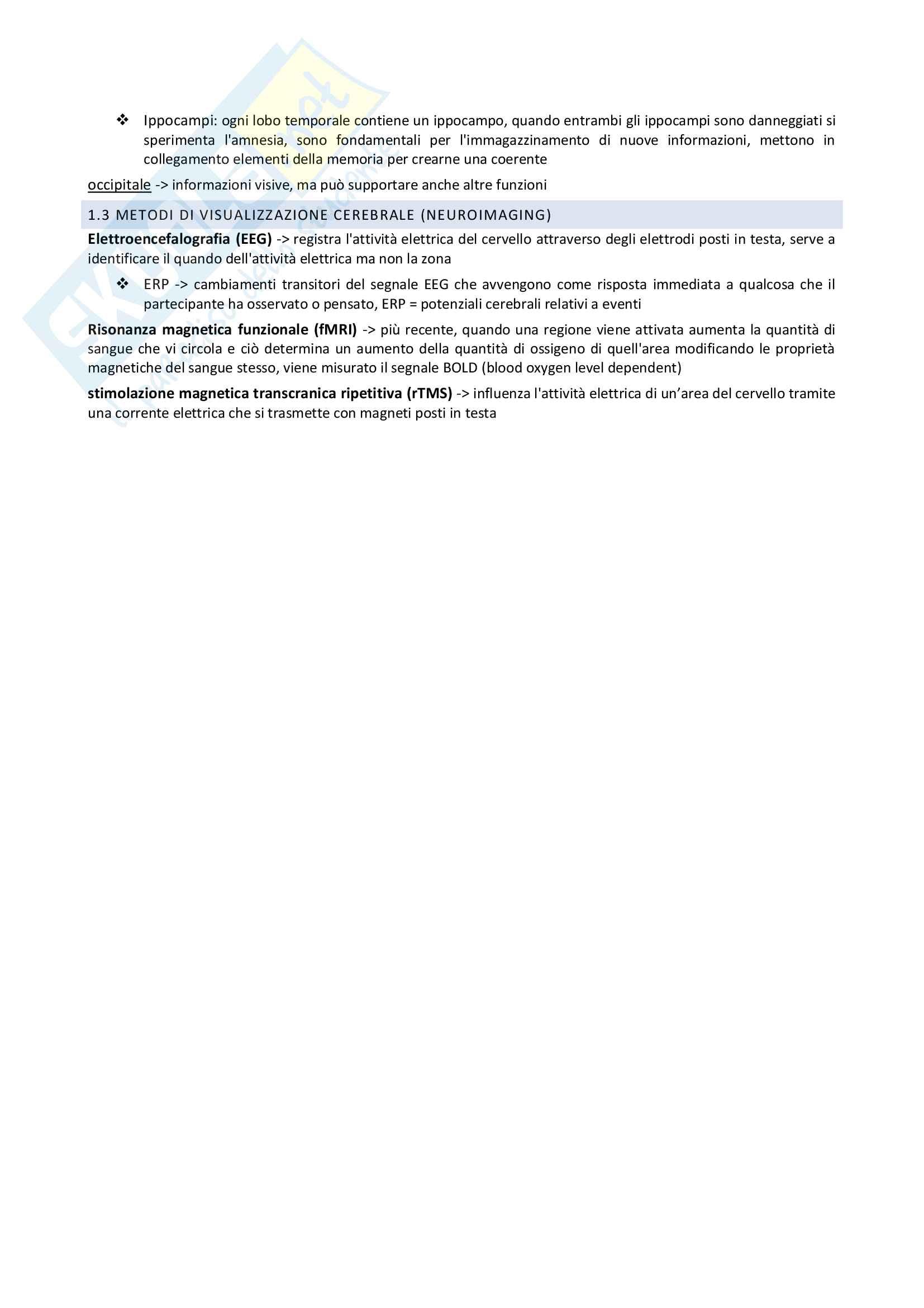 Riassunto esame Psicologia Cognitiva, prof. Di Pace, libro consigliato Psicologia cognitiva, Russell Revlin Pag. 2