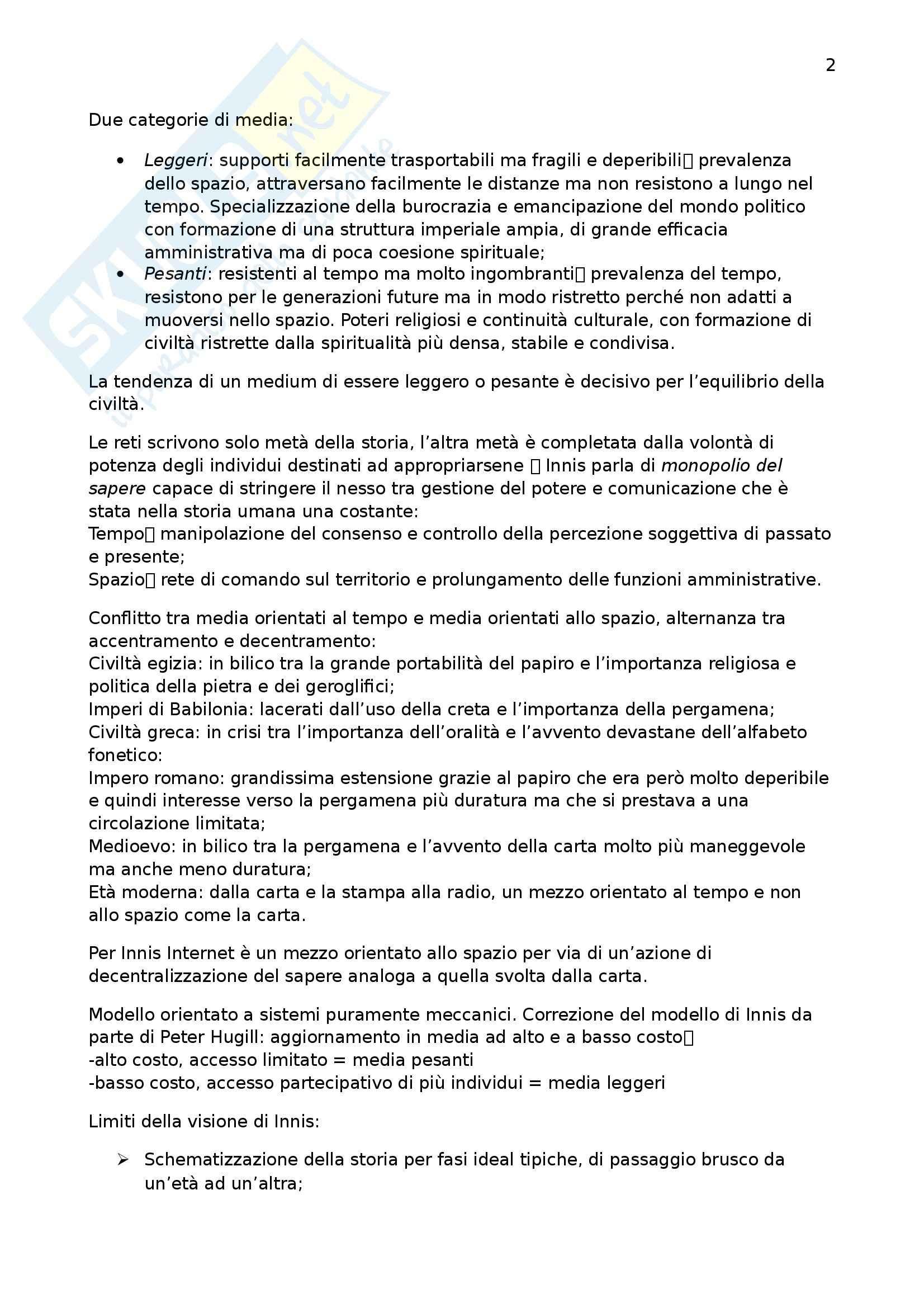 Riassunto esame Dociologia dei processi culturali, prof. Miconi, libro consigliato Reti. Origini e struttura della network society Pag. 2