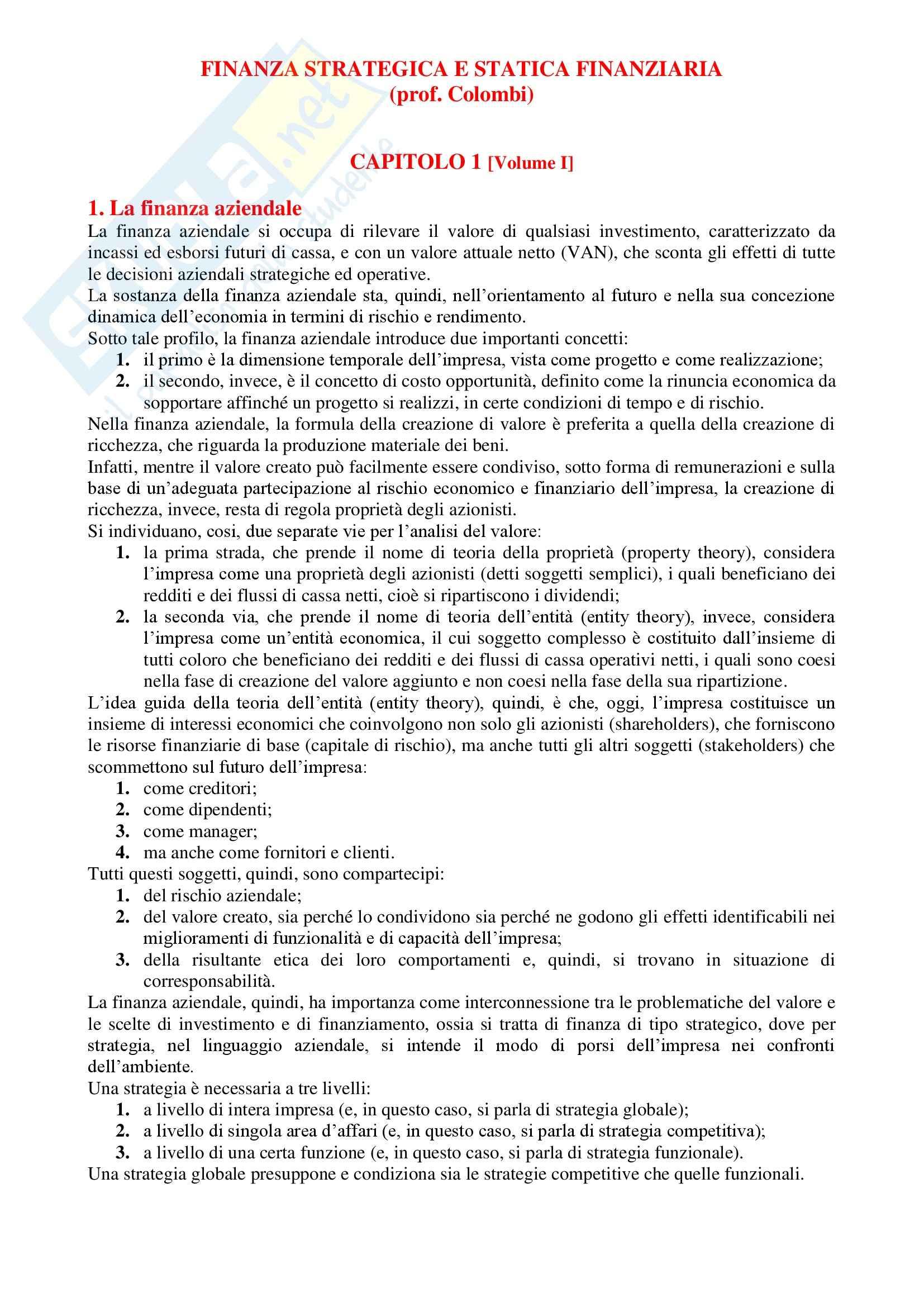Finanza aziendale - Appunti