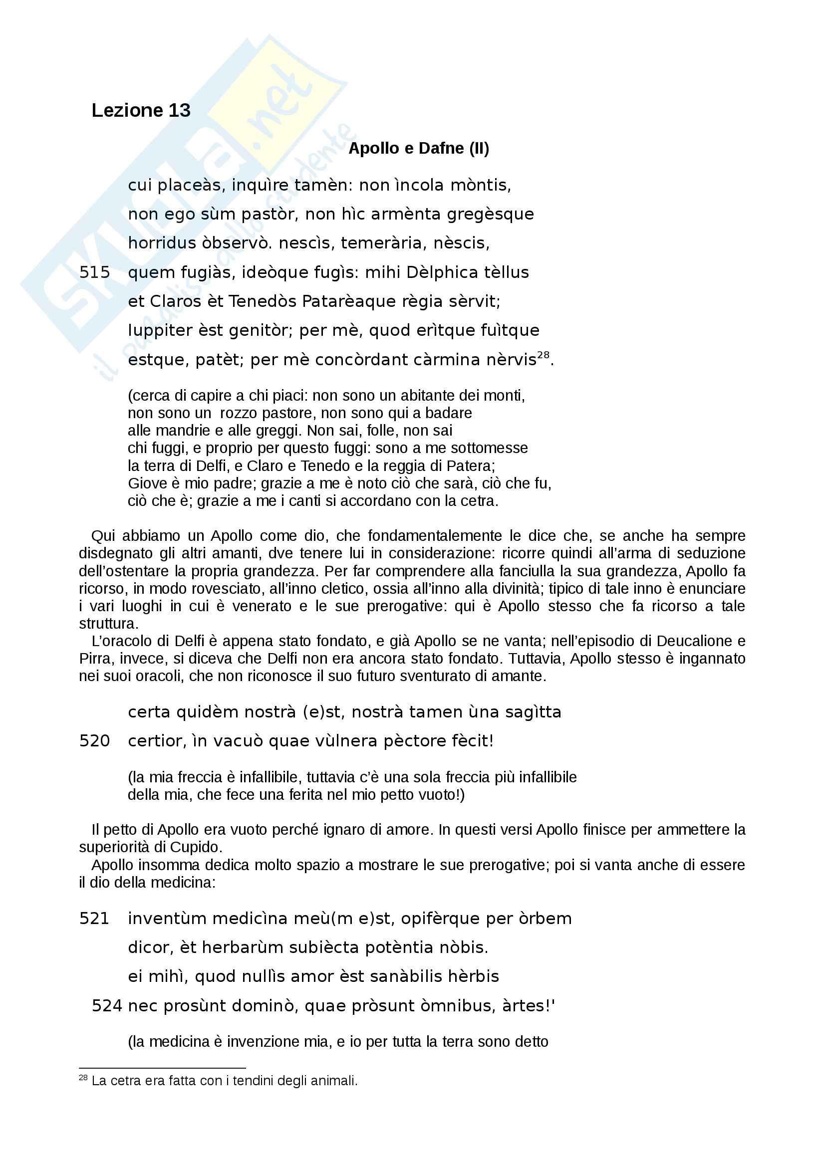 Le «Metamorfosi» di Ovidio tradotte e commentate, Libro I Pag. 36