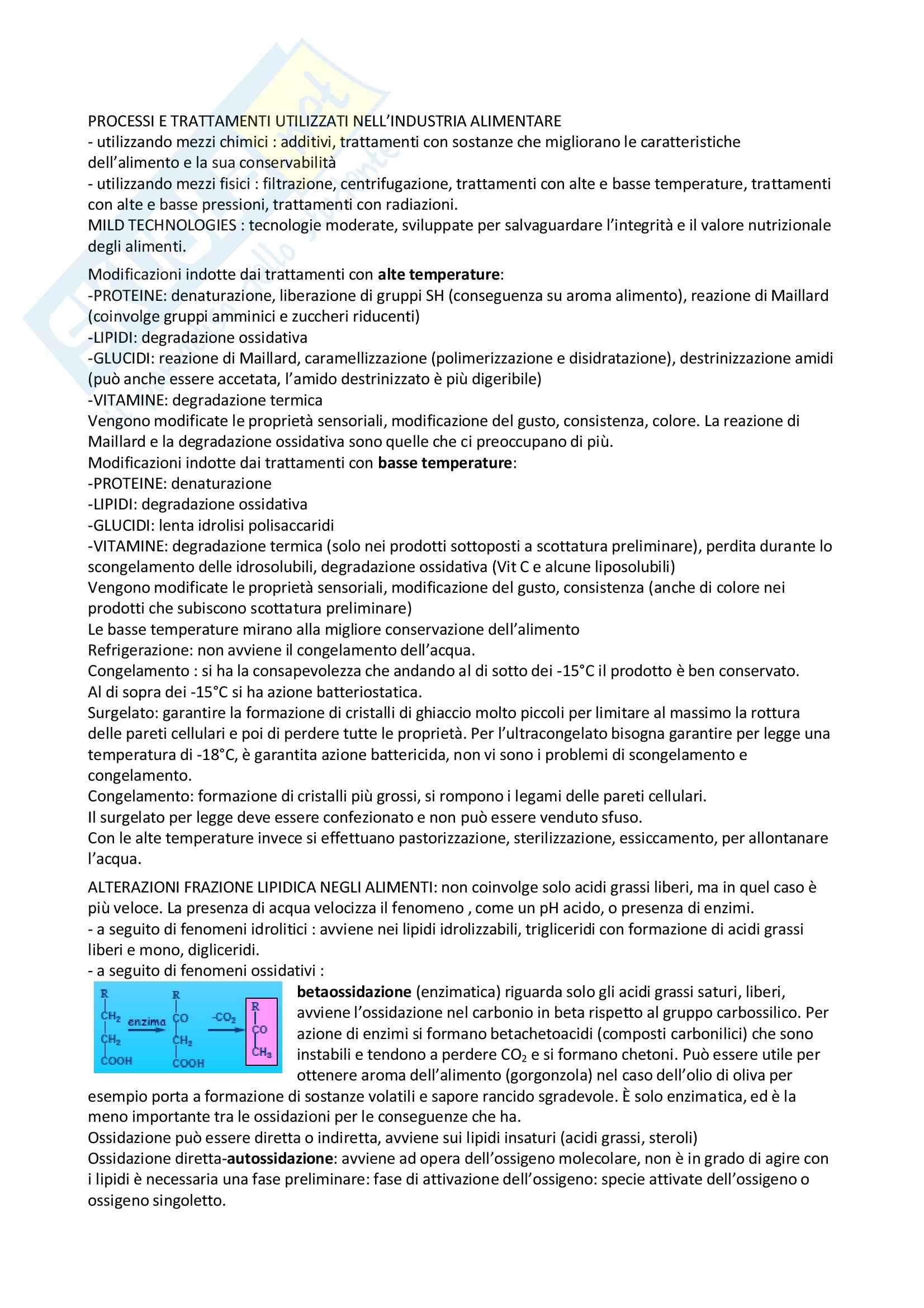 Chimica degli alimenti - processi industria alimentare