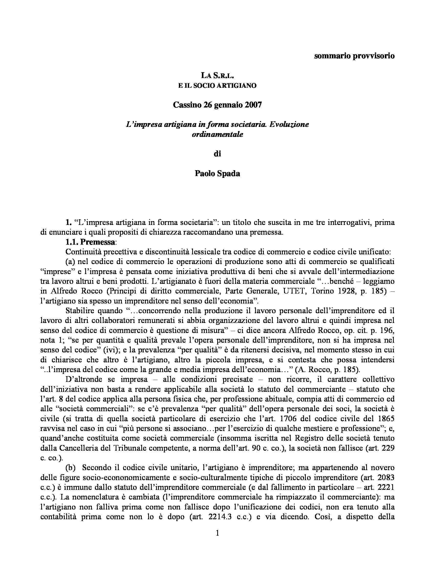 Impresa artigiana - Evoluzione ordinamentale