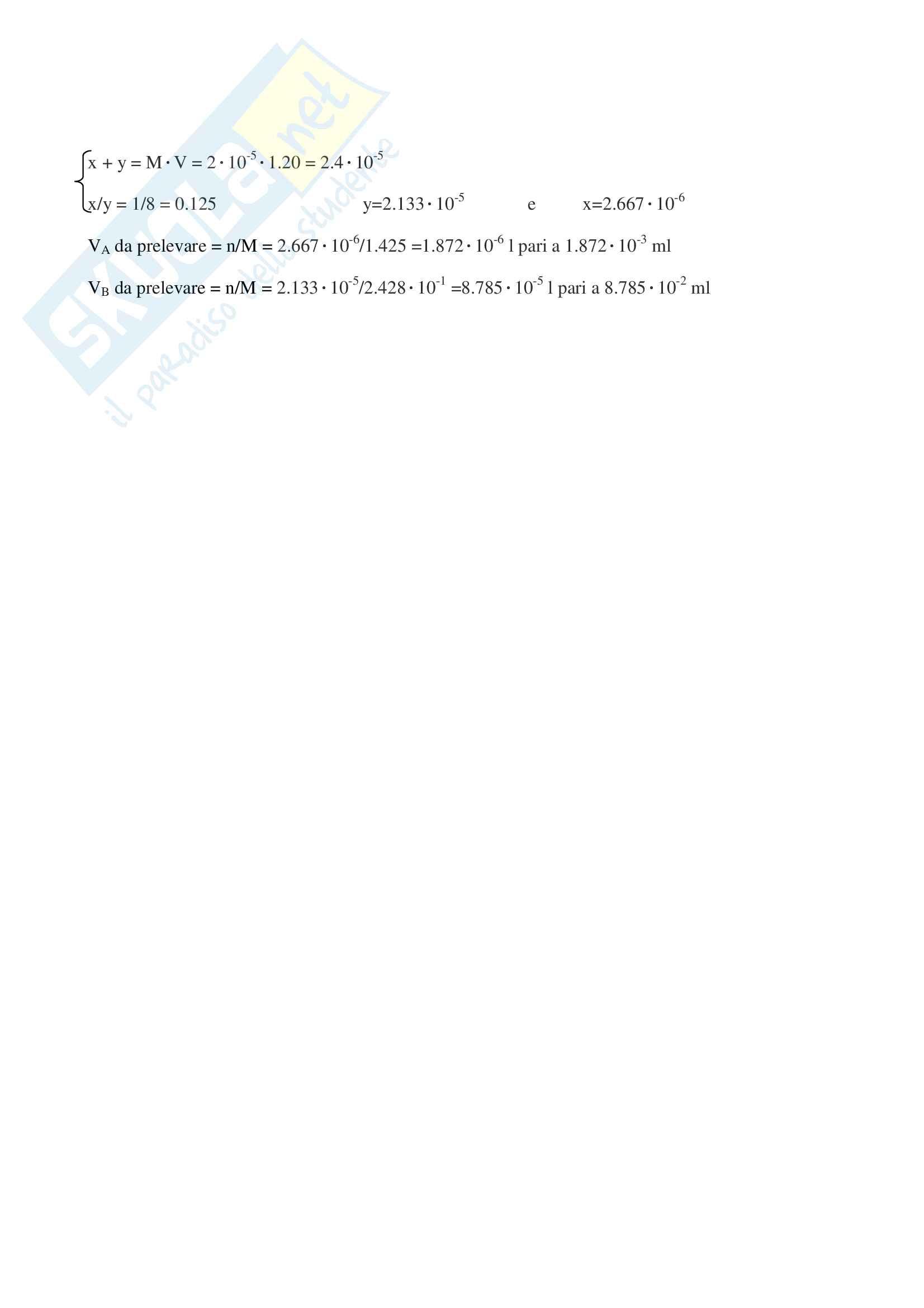 Esercizi d'esame svolti di chimica generale ed inorganica - Ctf e Farmacia Pag. 6