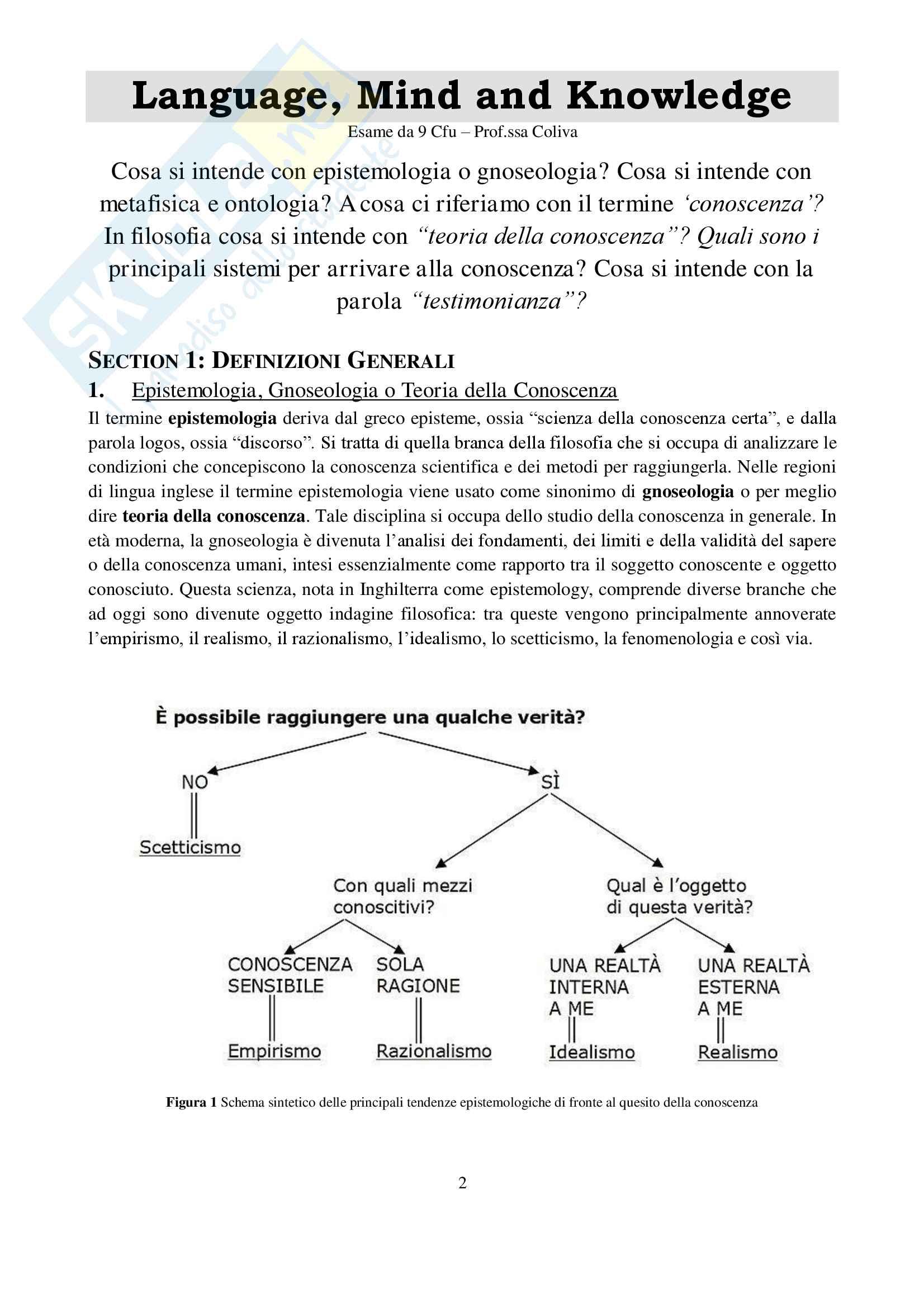 Hume/Reid - Testimonianza come Fonte di Conoscenza