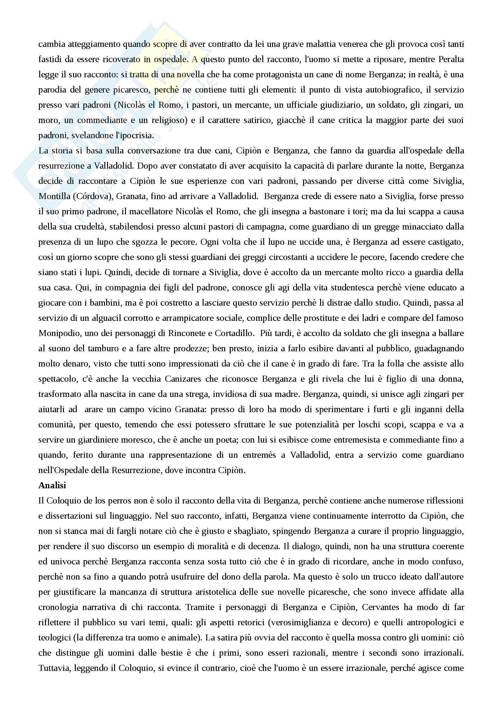 Riassunto esame letteratura spagnola, prof. Guarino, libro consigliato La letteratura spagnola vol. 2, Mancini, Guazzelli, Martinengo Pag. 36