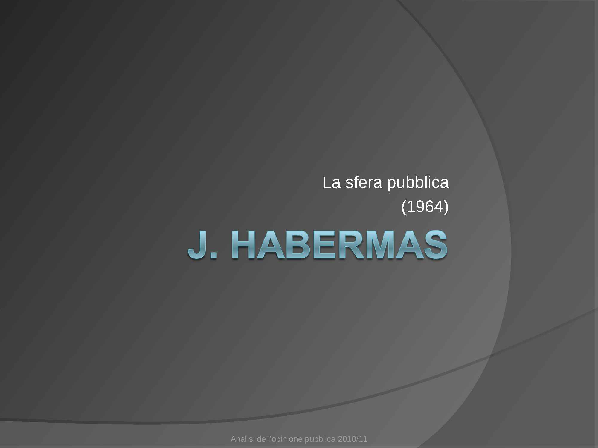 Sfera pubblica - Habermas