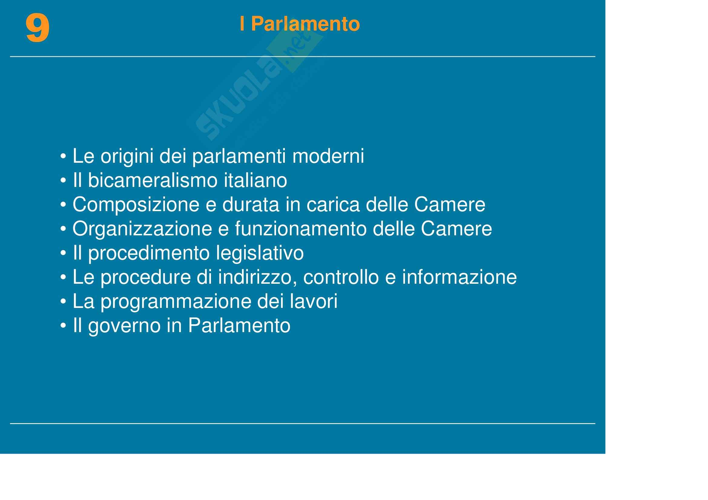 Diritto pubblico, dell'informazione e della comunicazione - il Parlamento