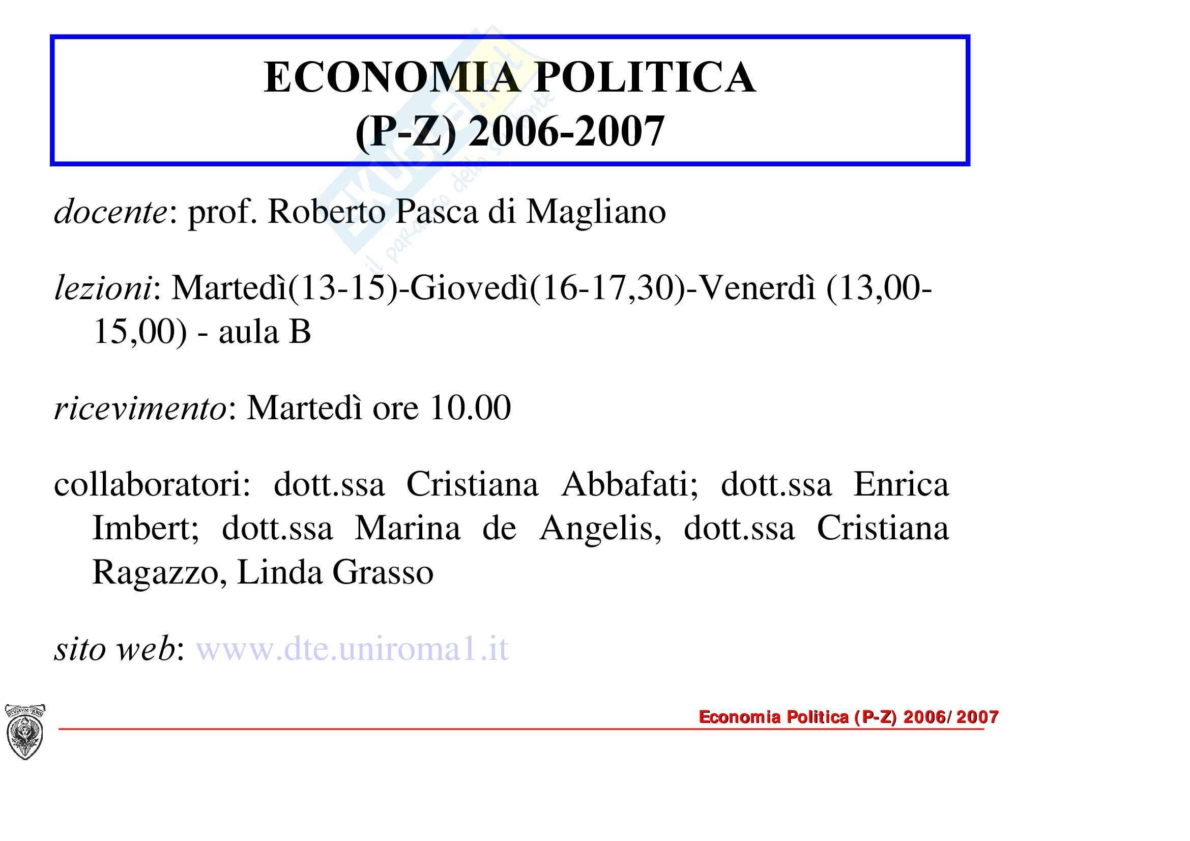 Economia politica - l'economia di mercato