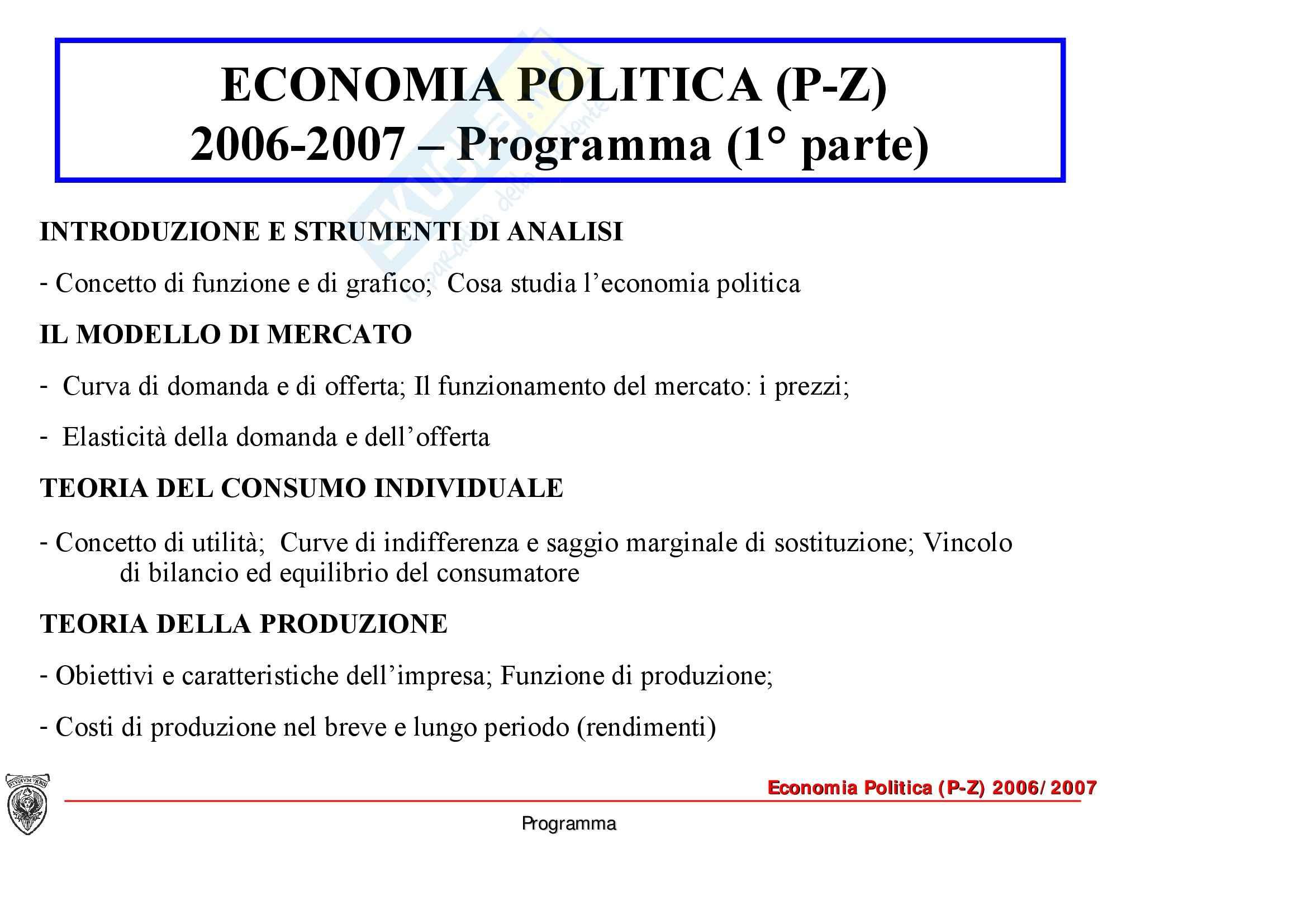 Economia politica - l'economia di mercato Pag. 2