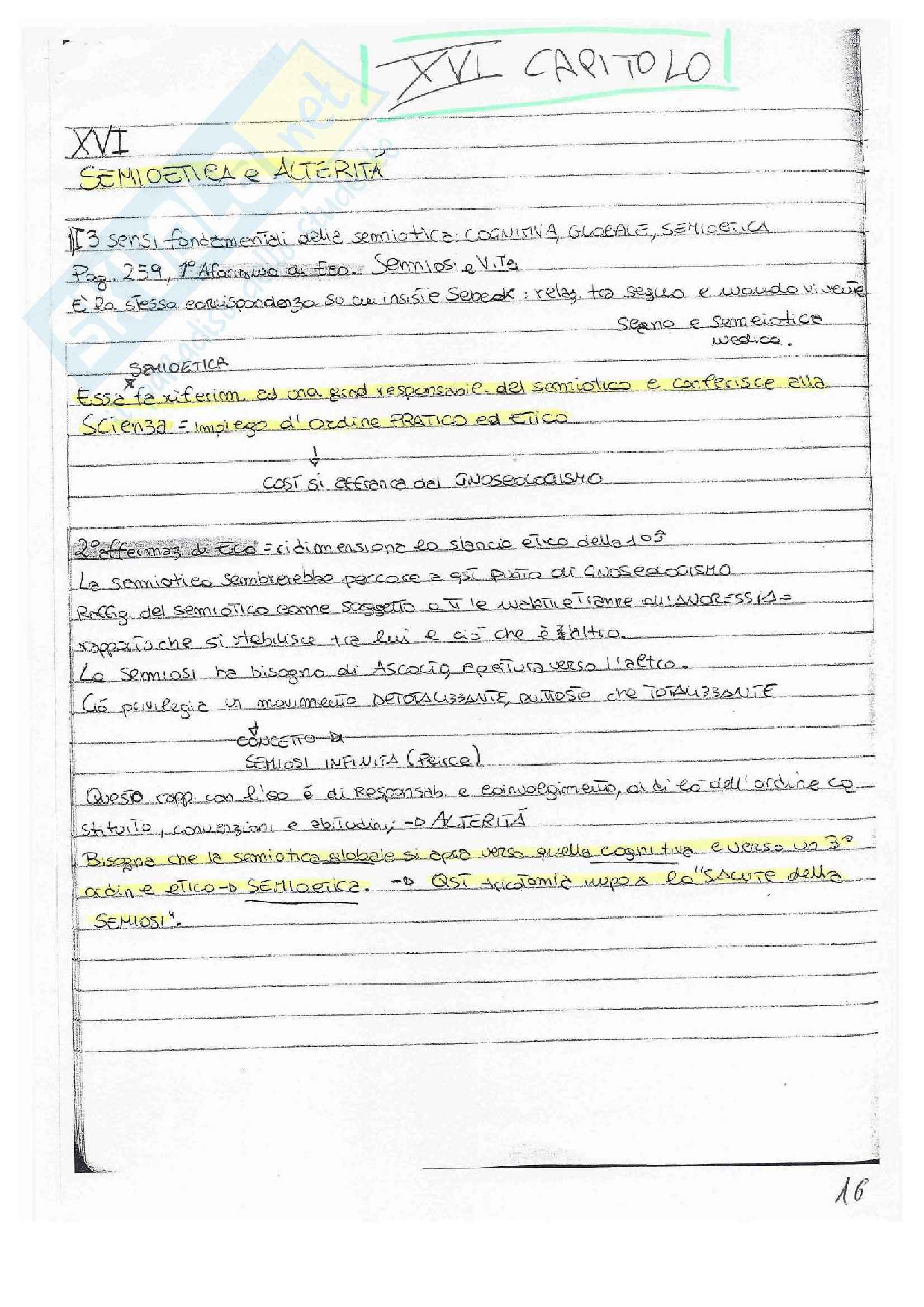 Semiotica, Appunti Pag. 16