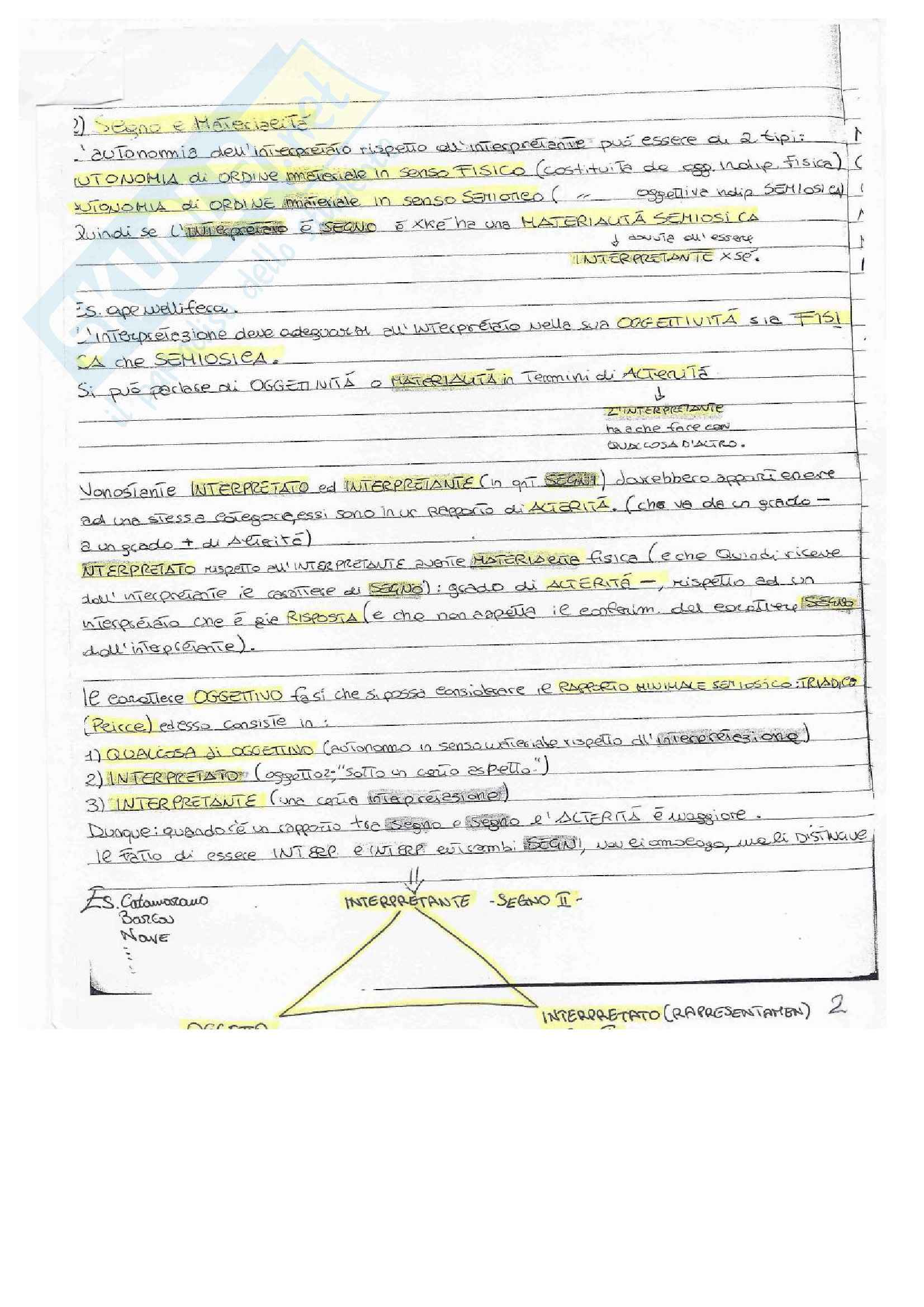 Semiotica, Appunti Pag. 2