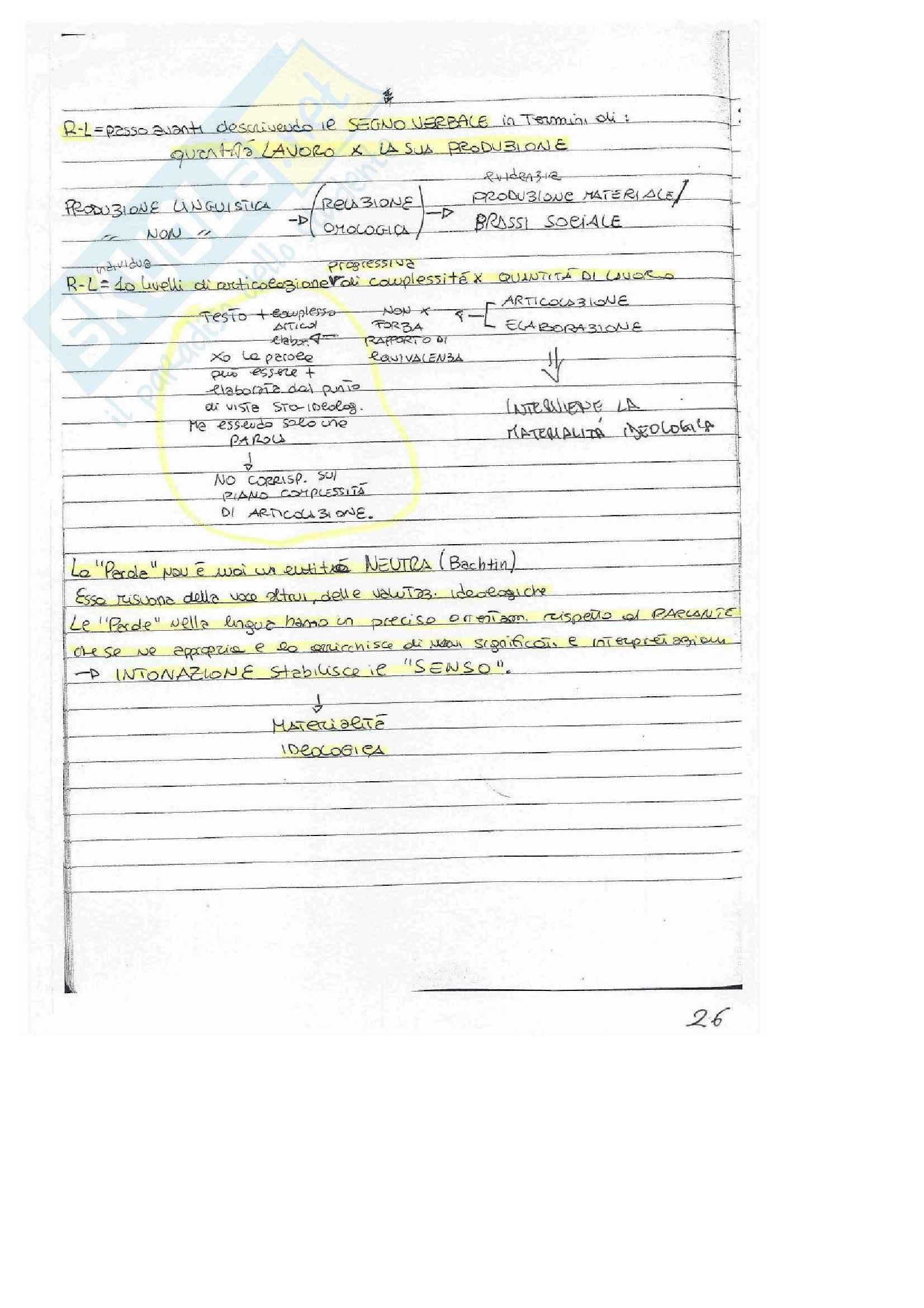 Semiotica, Appunti Pag. 26