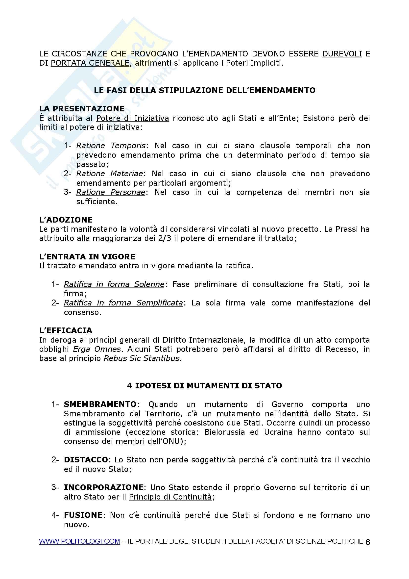 Organizzazione internazionale Pag. 6