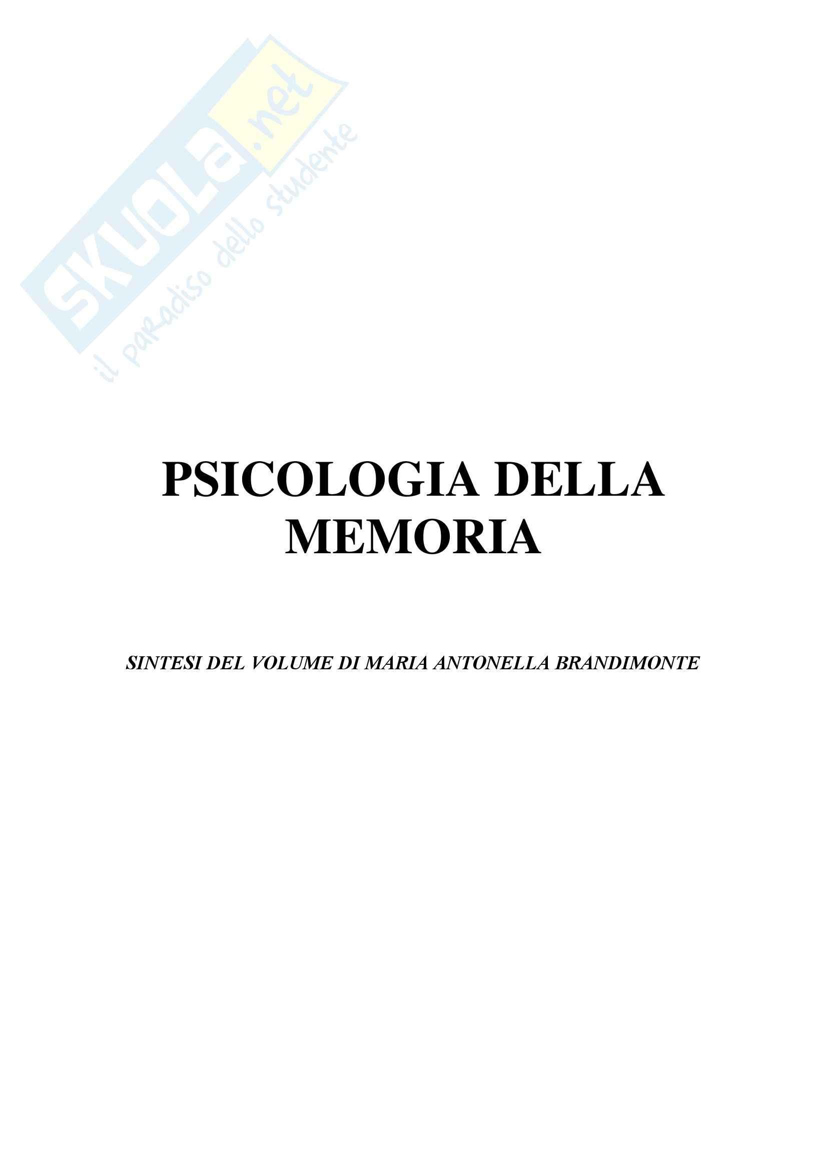 Psicologia dell'apprendimento e della memoria