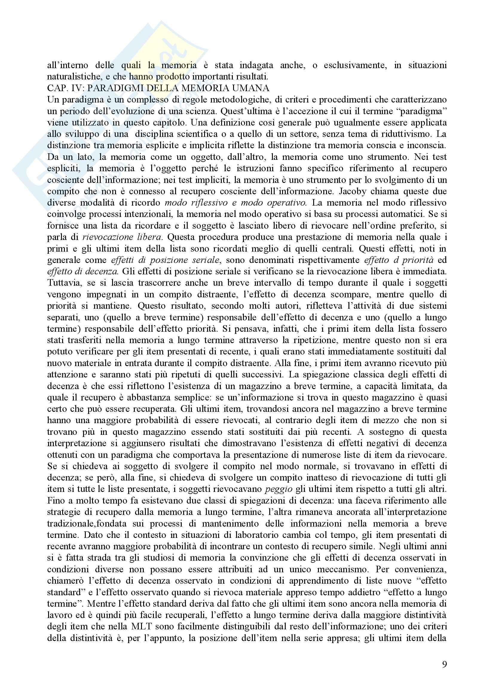 Psicologia dell'apprendimento e della memoria Pag. 26