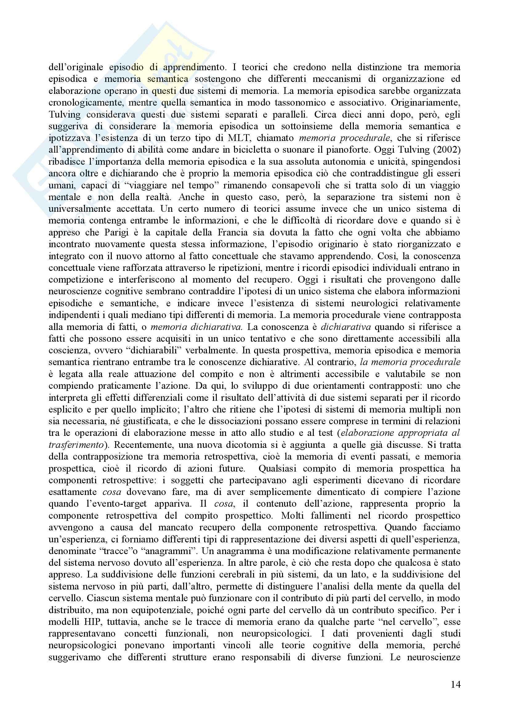 Psicologia dell'apprendimento e della memoria Pag. 31