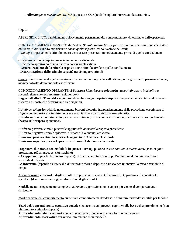 Riassunto esame Psicologia generale, prof Amoretti, libro consigliato Psicologia generale, Amoretti Pag. 11