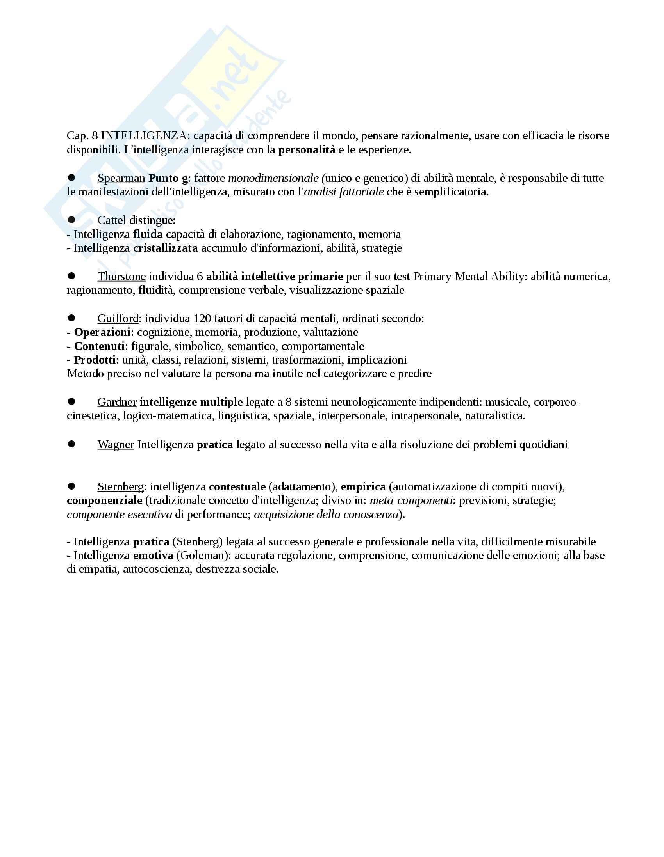Riassunto esame Psicologia generale, prof Amoretti, libro consigliato Psicologia generale, Amoretti Pag. 16