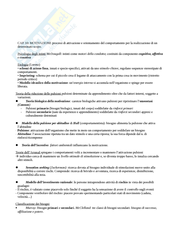 Riassunto esame Psicologia generale, prof Amoretti, libro consigliato Psicologia generale, Amoretti Pag. 21
