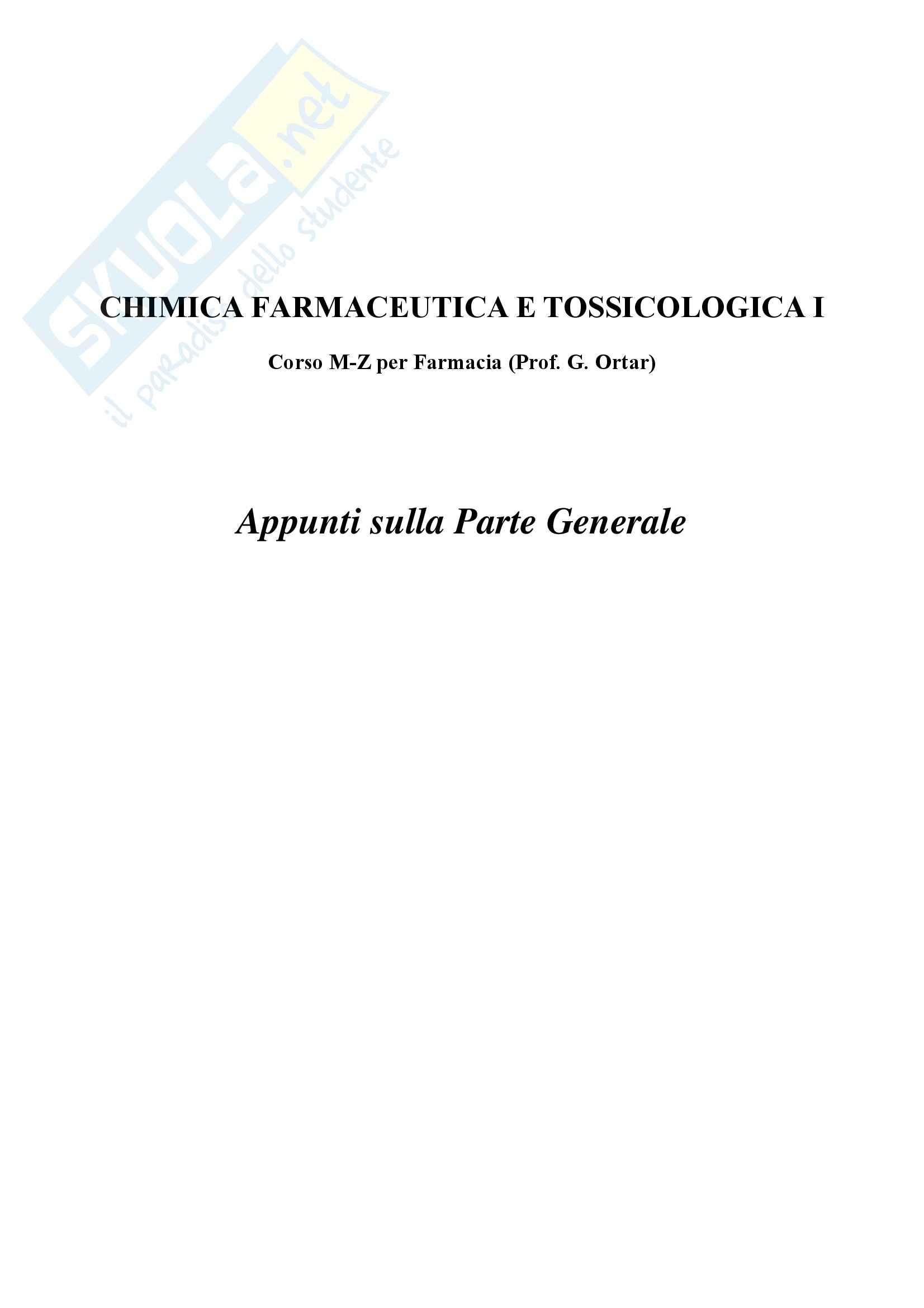 Chimica farmaceutica e tossicologica I - Appunti