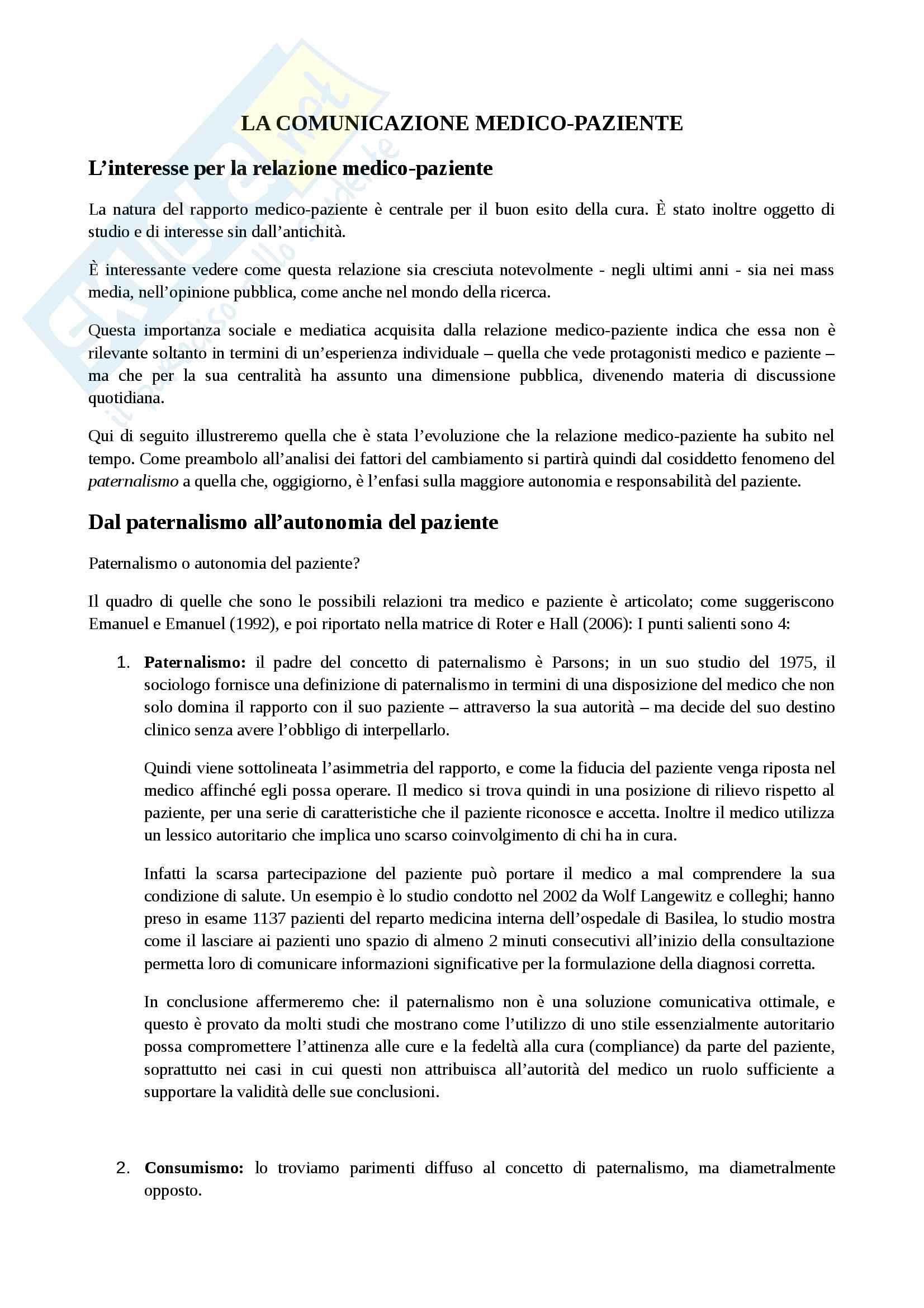 appunto I. Matteucci Sociologia della salute