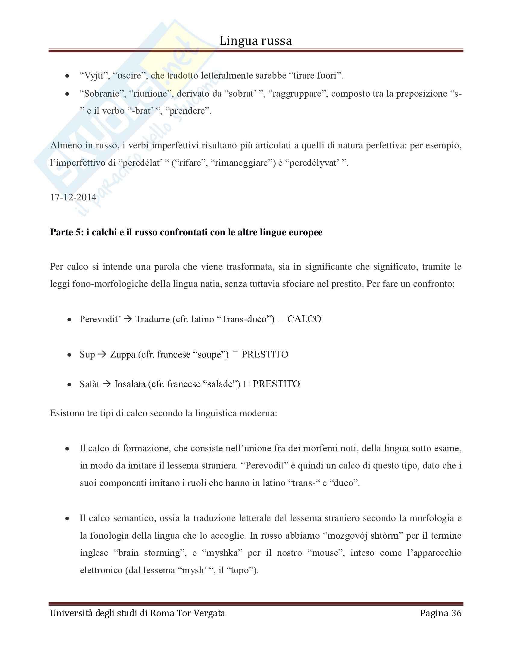 Lingua russa Modulo A Pag. 36