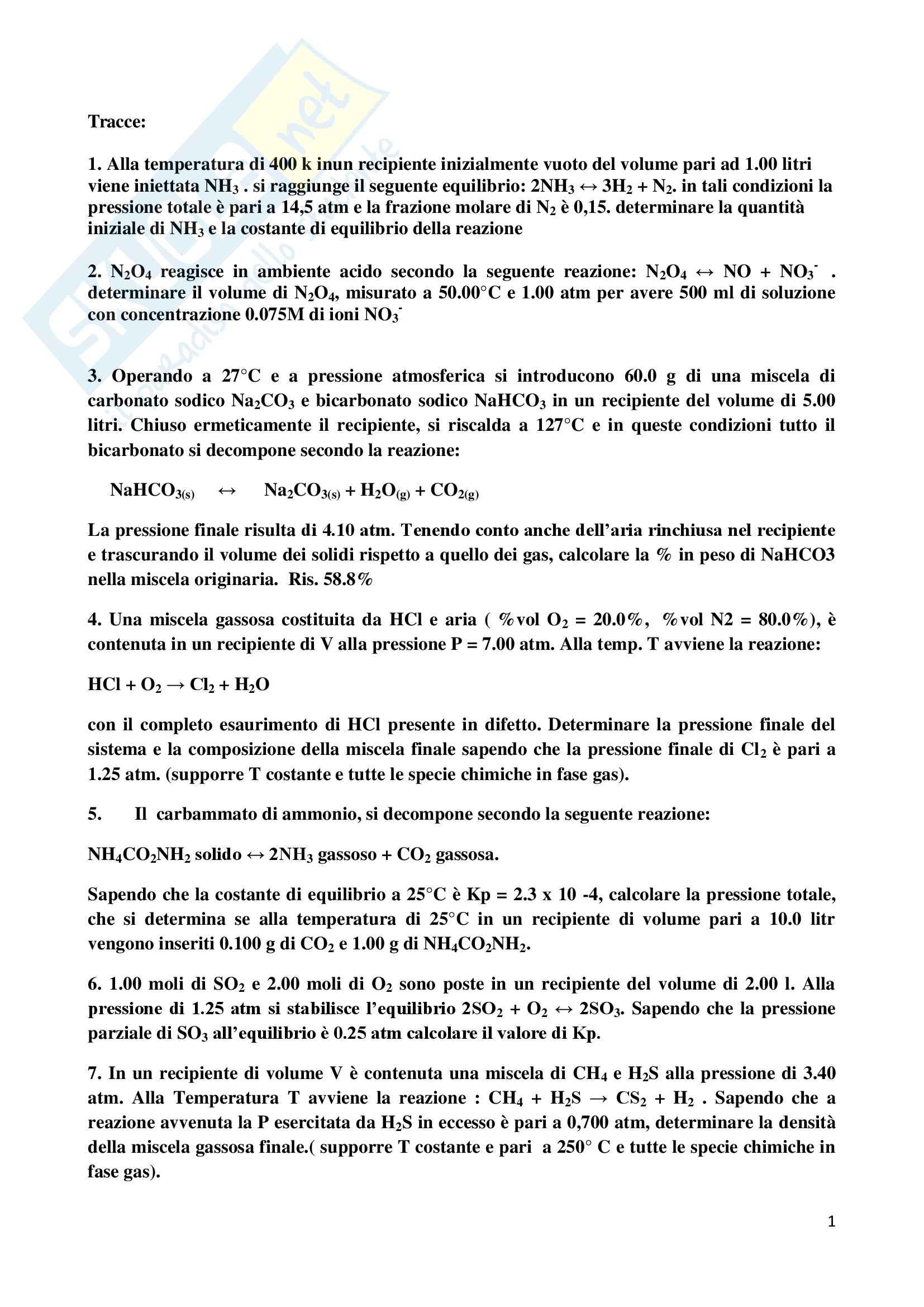 esercitazione M. Coletta Chimica e propedeutica biochimica
