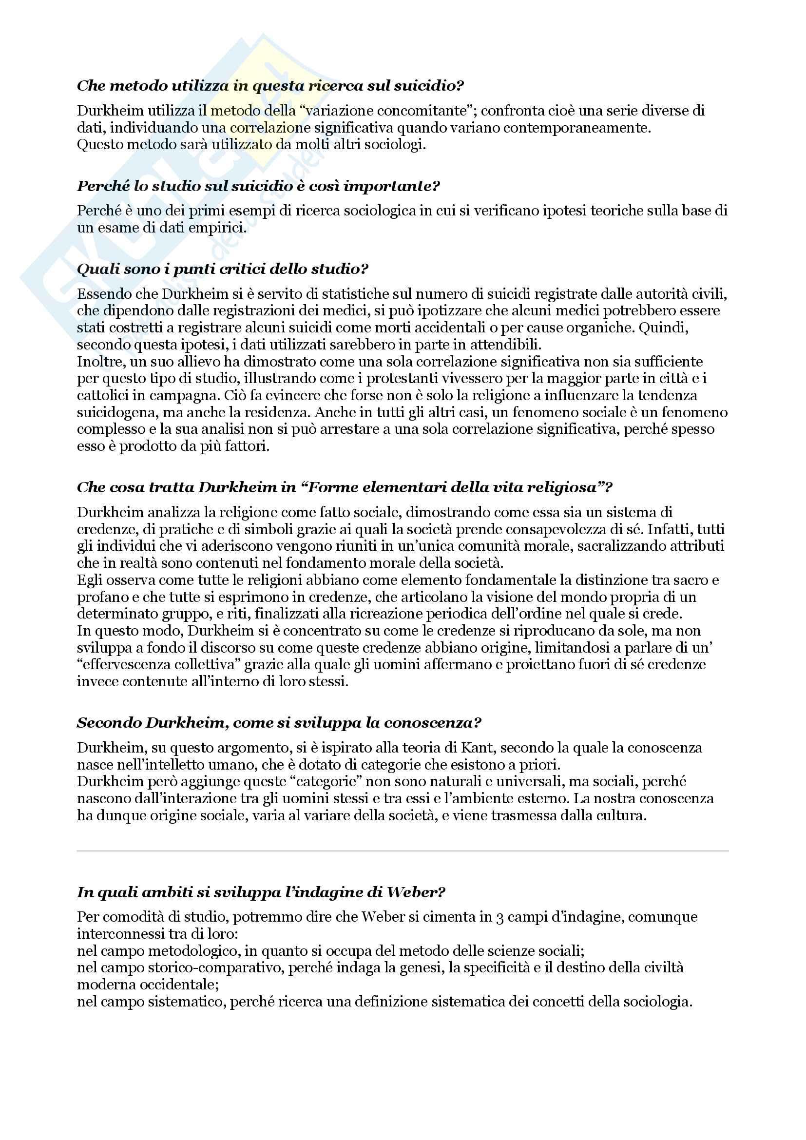 Esame di sociologia, domande e risposte su tutto il programma Pag. 16